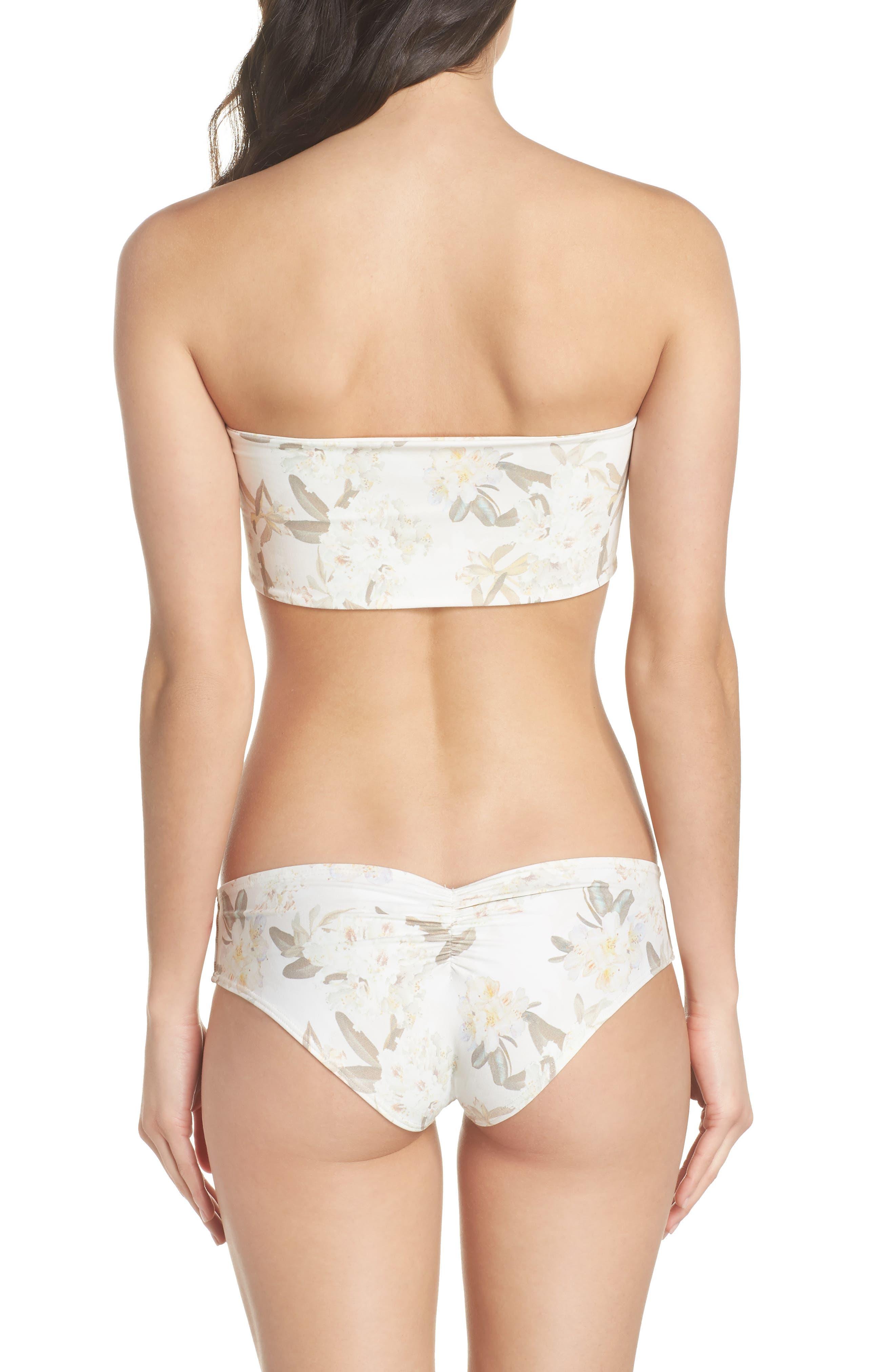 Floral Corset Bikini Top,                             Alternate thumbnail 8, color,                             ETE FLORAL WHITE