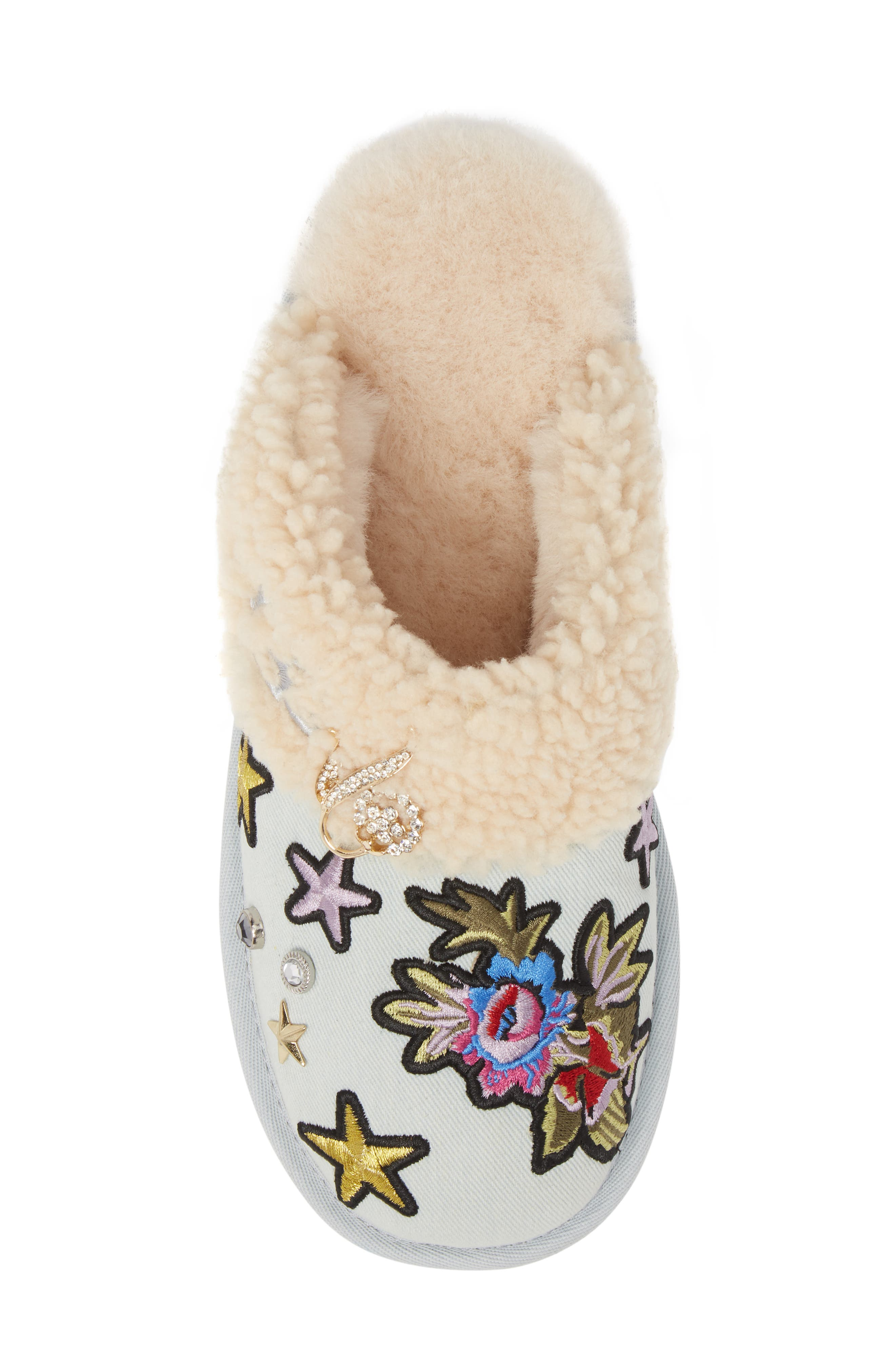 Patch It Slipper with Genuine Shearling Trim,                             Alternate thumbnail 5, color,                             452