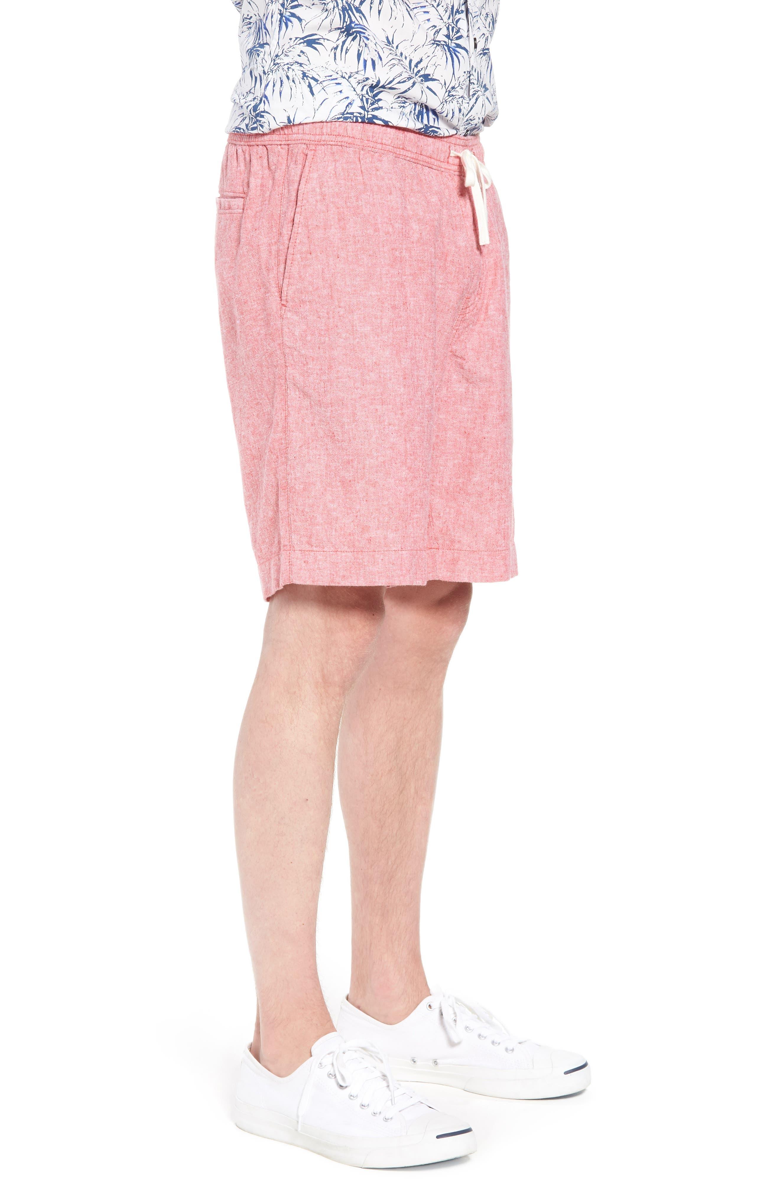 Drawstring Linen Blend Shorts,                             Alternate thumbnail 12, color,