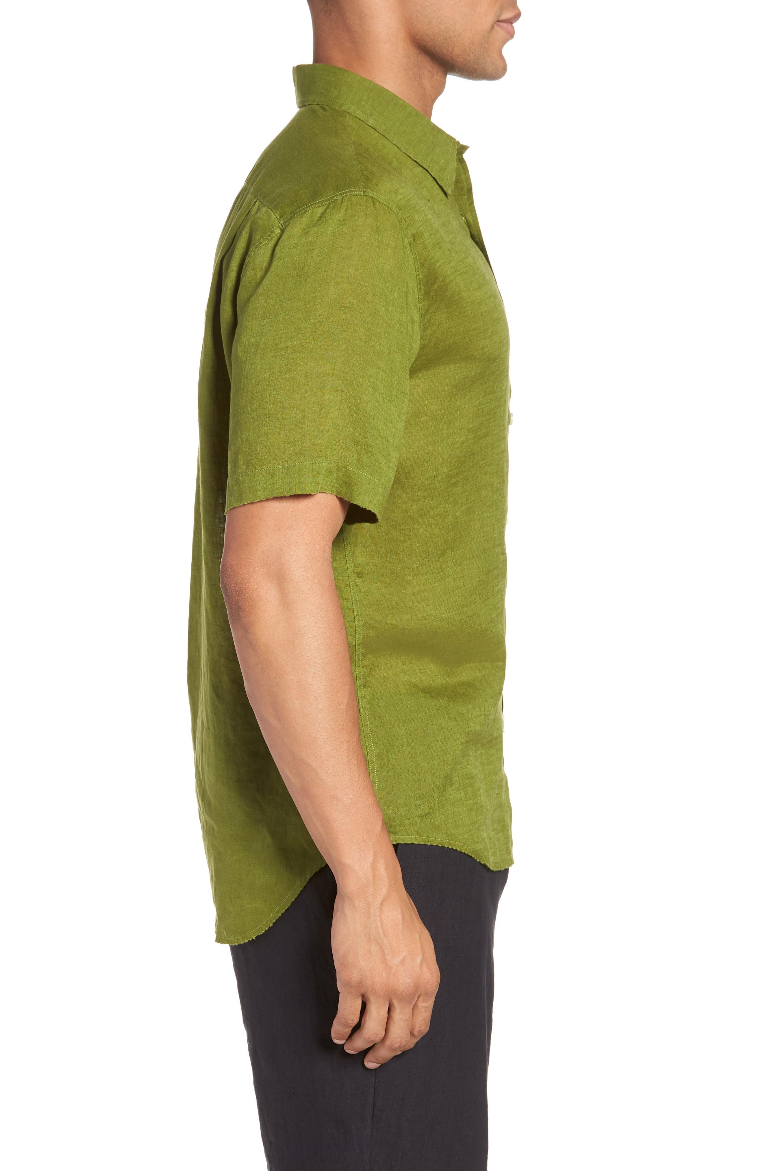 Classic Fit Sport Shirt,                             Alternate thumbnail 3, color,                             PASTURE