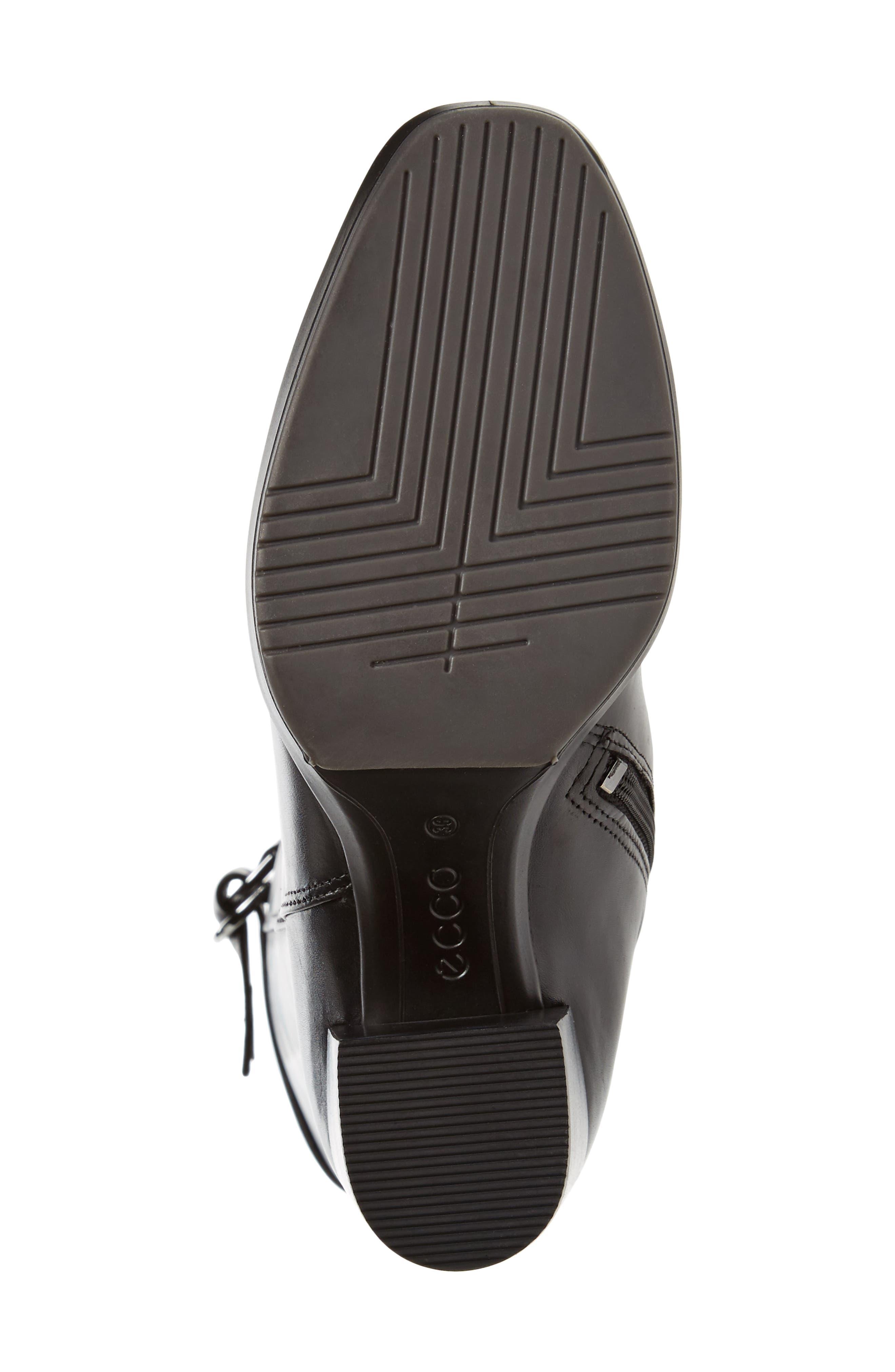 Shape 55 Chalet Boot,                             Alternate thumbnail 6, color,                             BLACK LEATHER