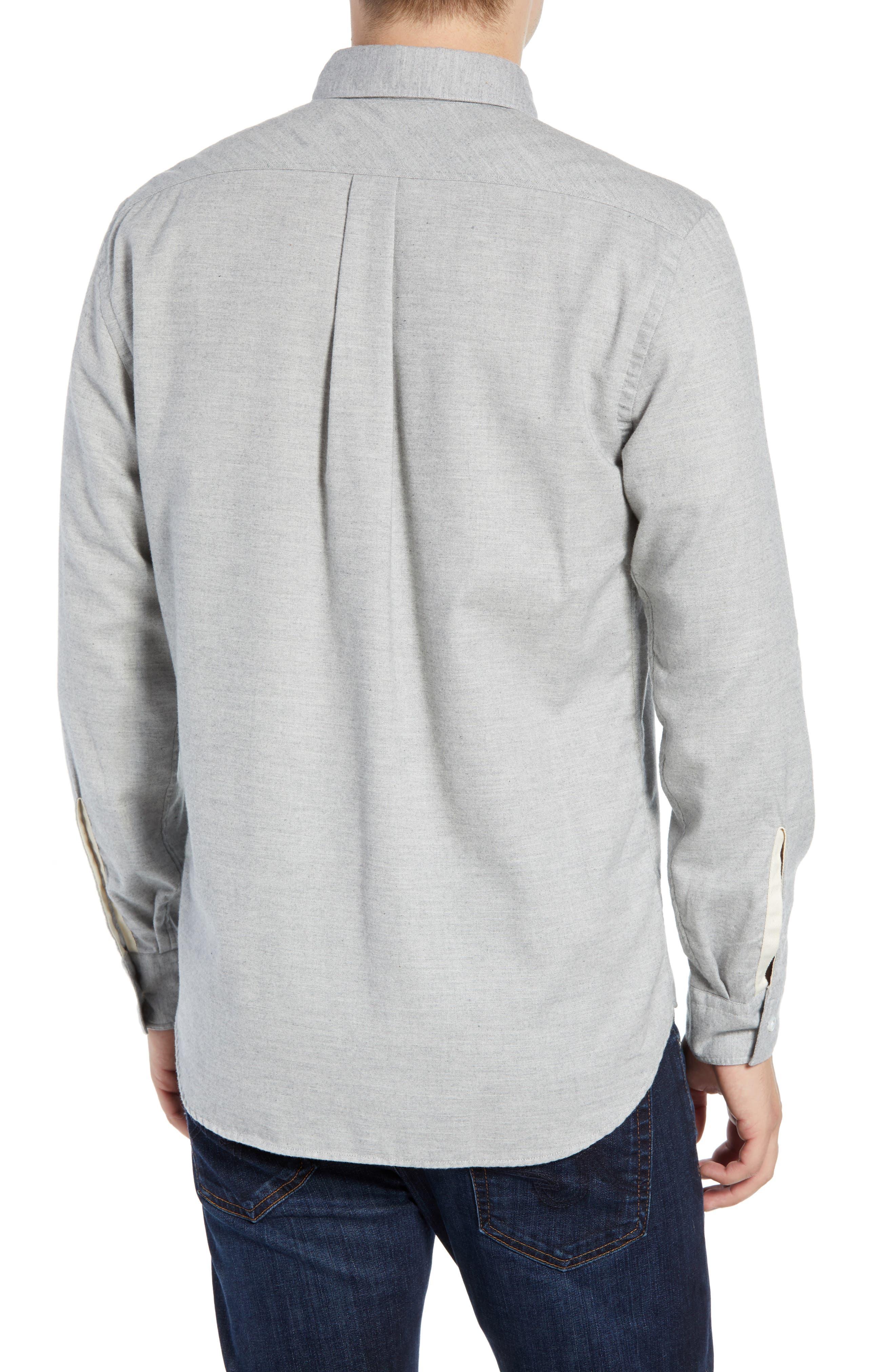 Tuscumbia Regular Fit Sport Shirt,                             Alternate thumbnail 3, color,                             LIGHT GREY
