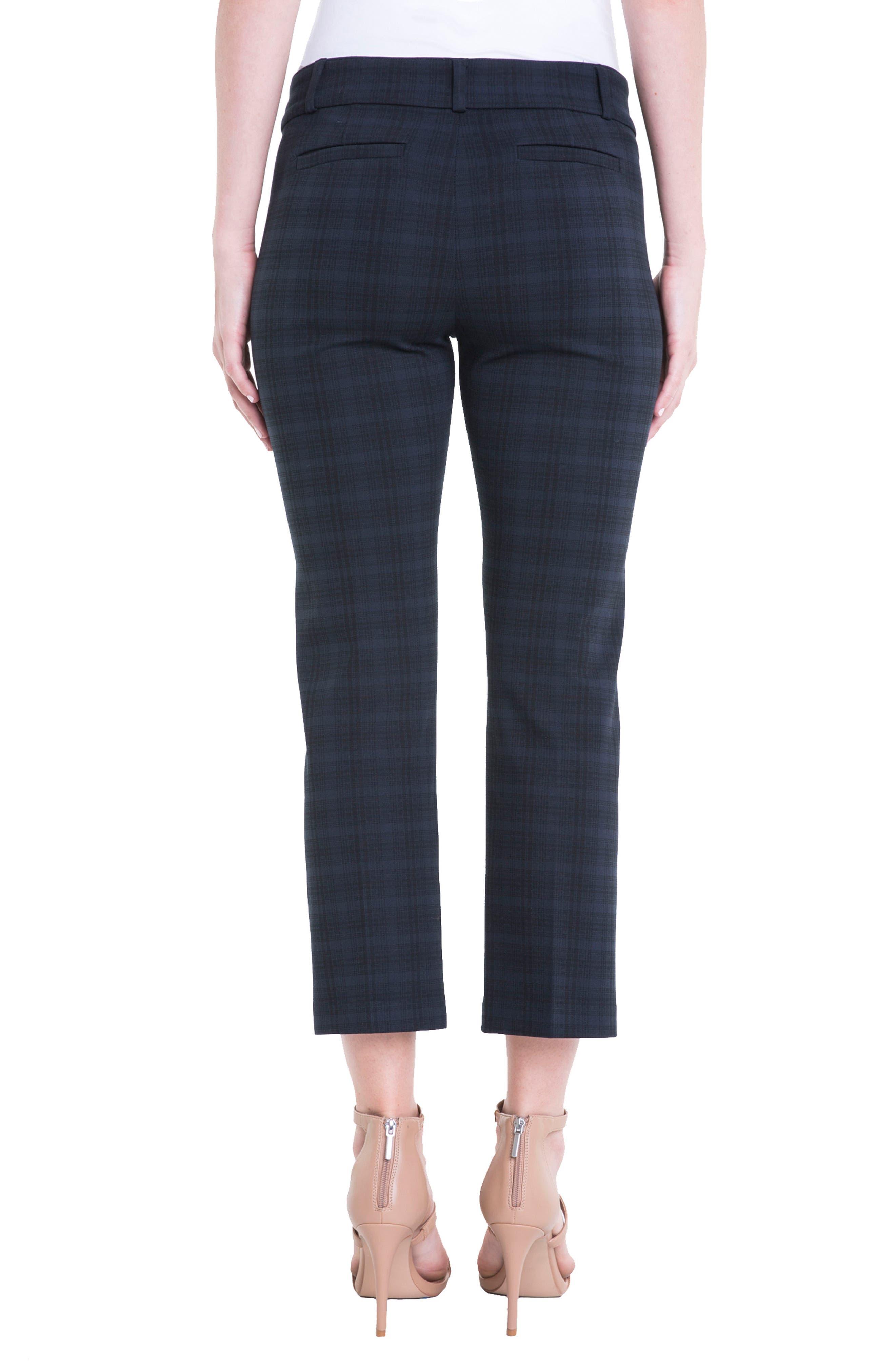 Vera Plaid Crop Trousers,                             Alternate thumbnail 2, color,