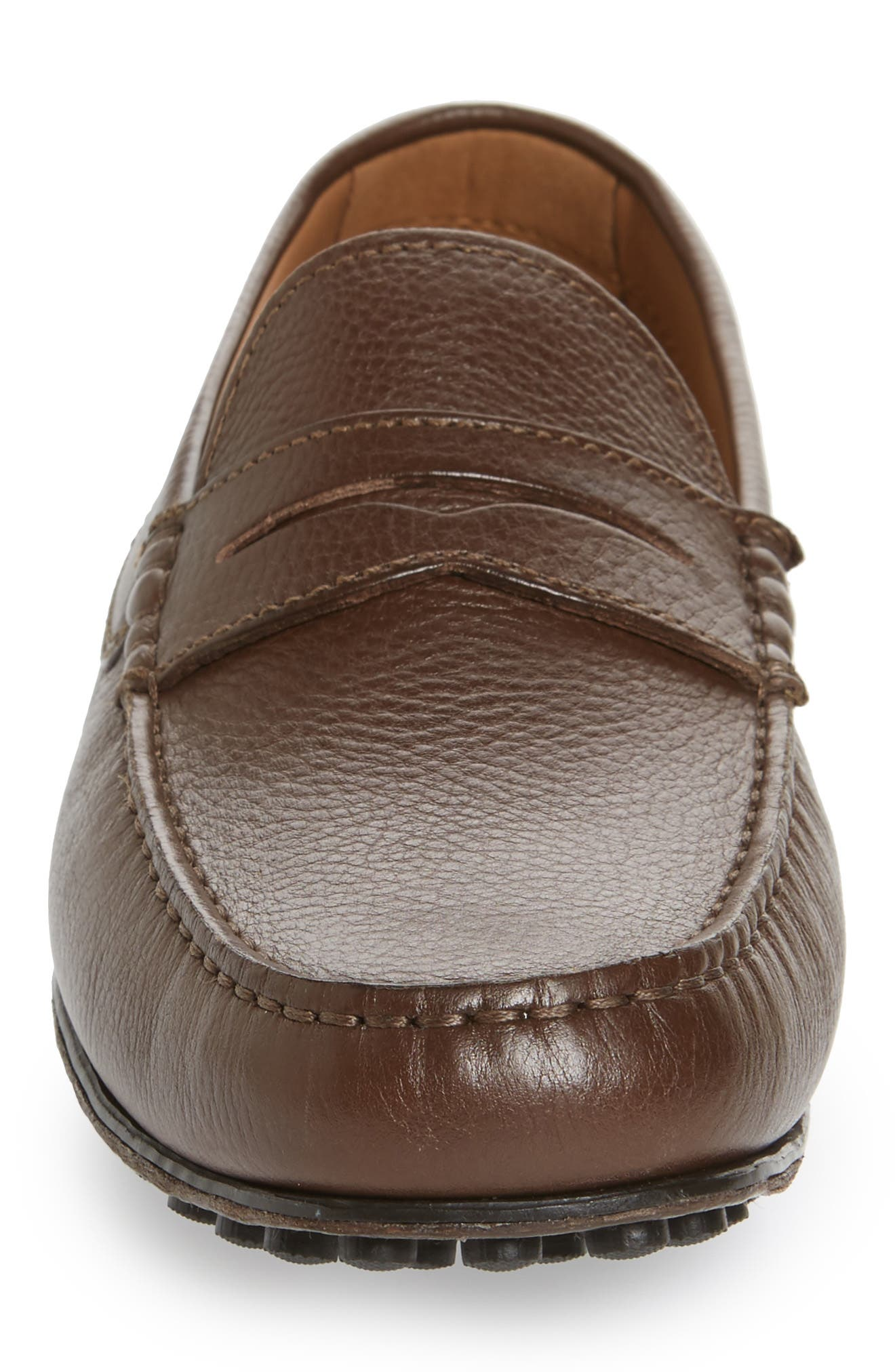 Le Mans Penny Driving Moccasin,                             Alternate thumbnail 4, color,                             BROWN