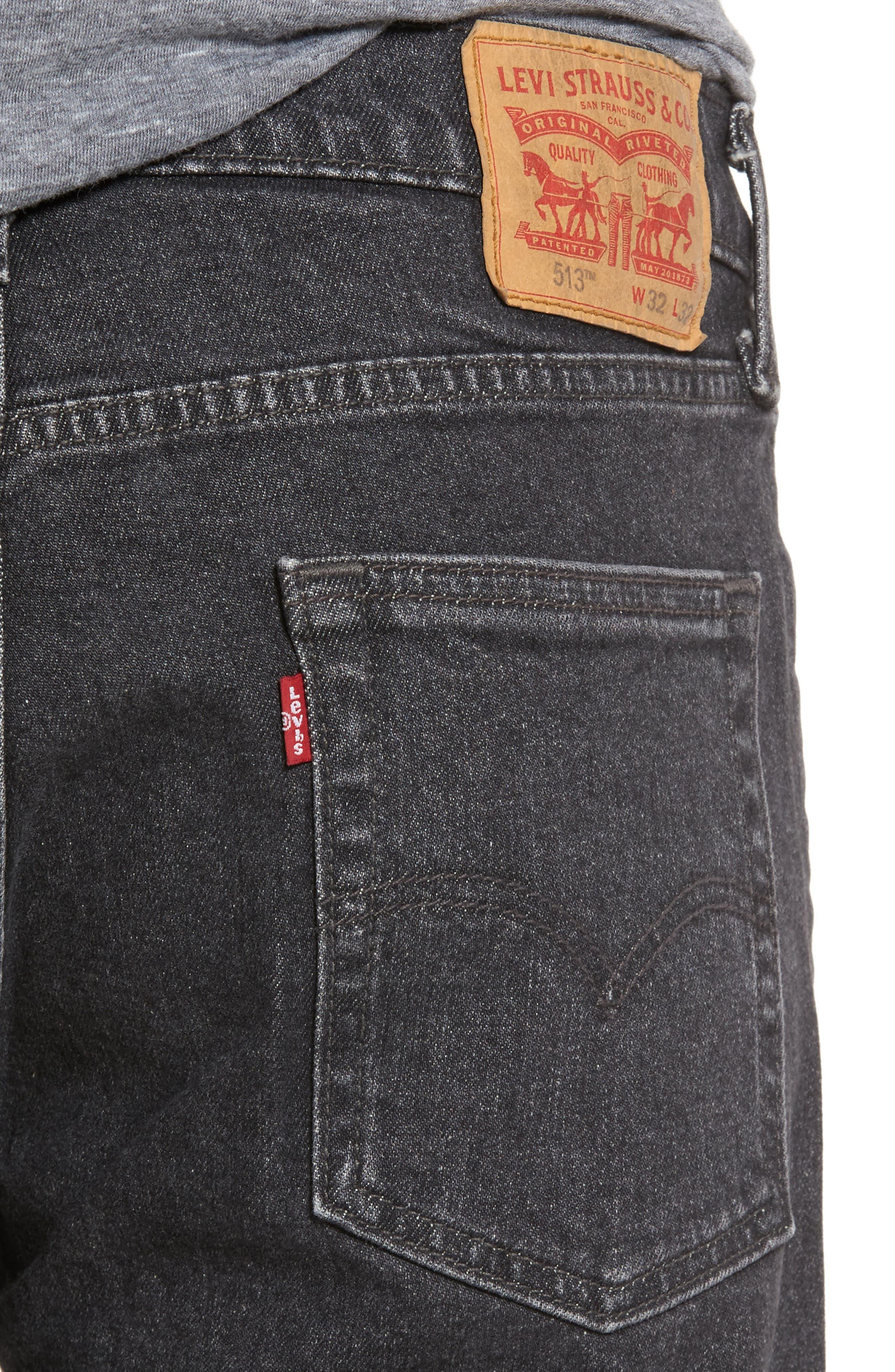 513<sup>™</sup> Slim Straight Leg Jeans,                             Alternate thumbnail 4, color,                             021