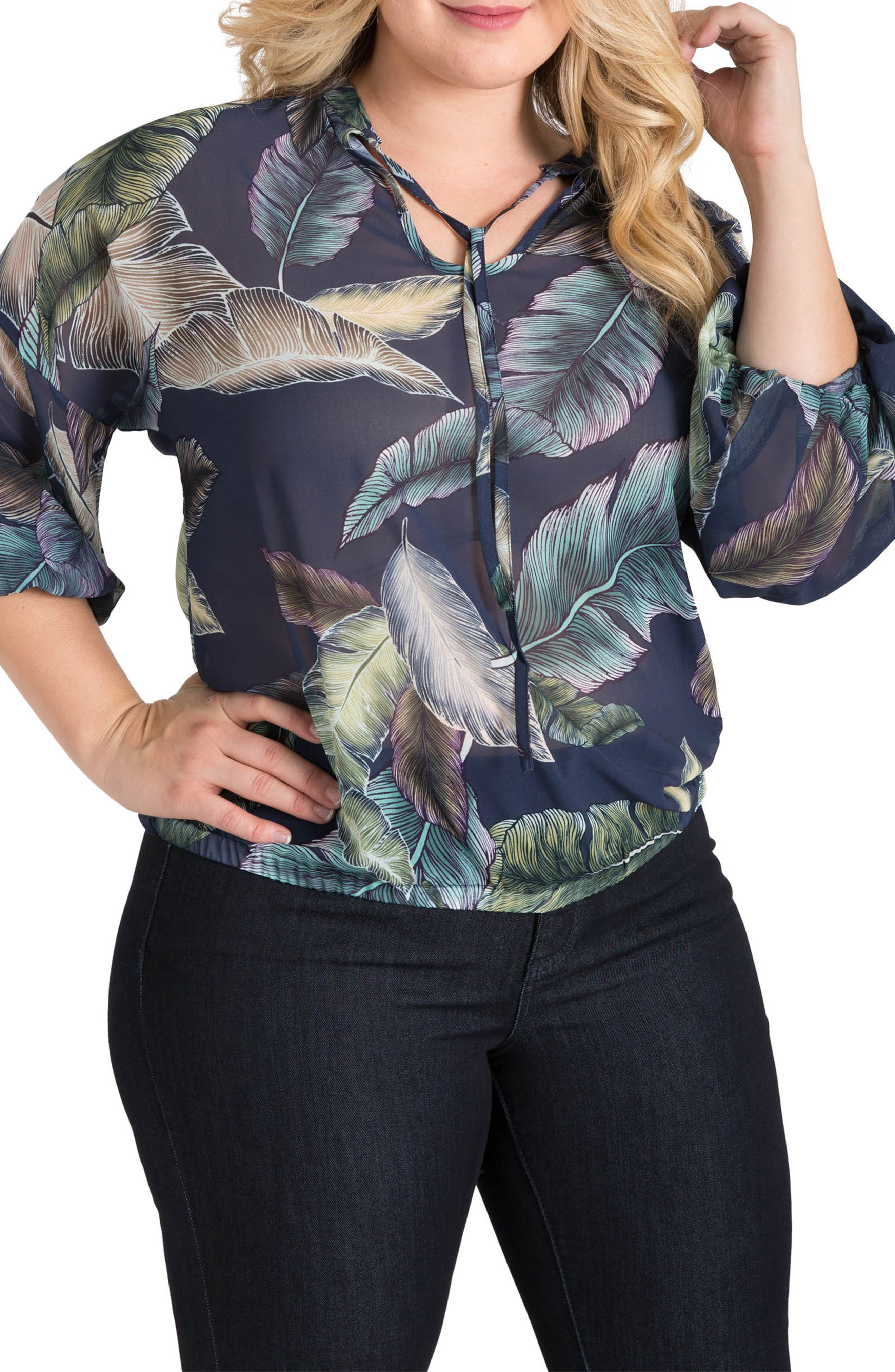 Lizzy Print Top,                         Main,                         color, 950