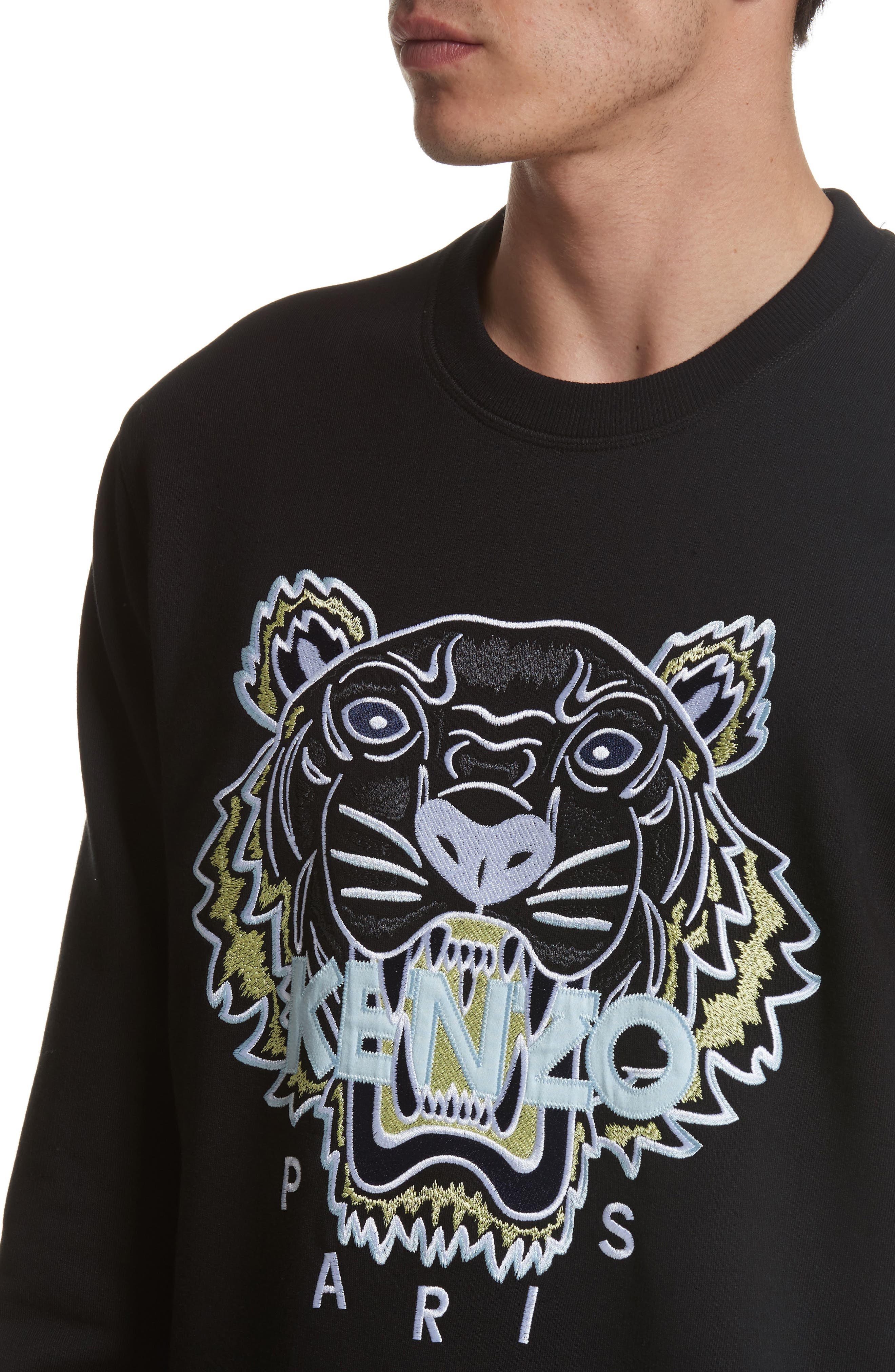 Embroidered Graphic Sweatshirt,                             Alternate thumbnail 4, color,                             001