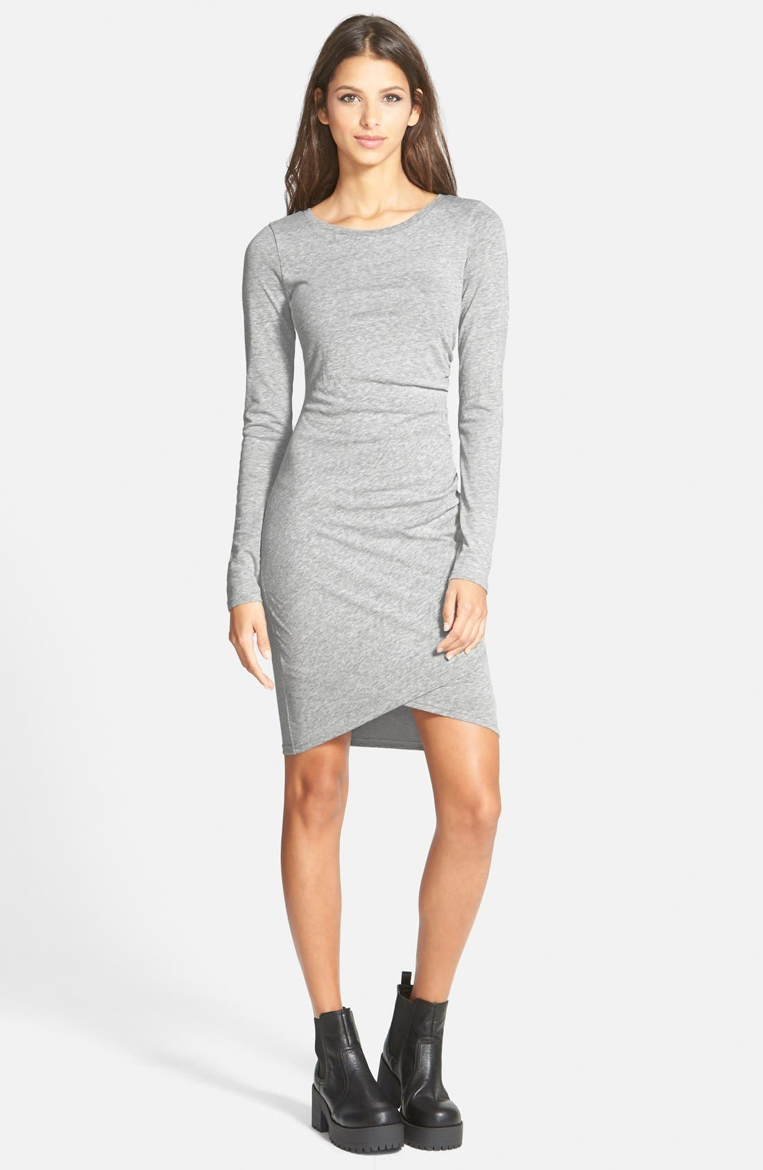 Ruched Long Sleeve Dress,                             Main thumbnail 2, color,
