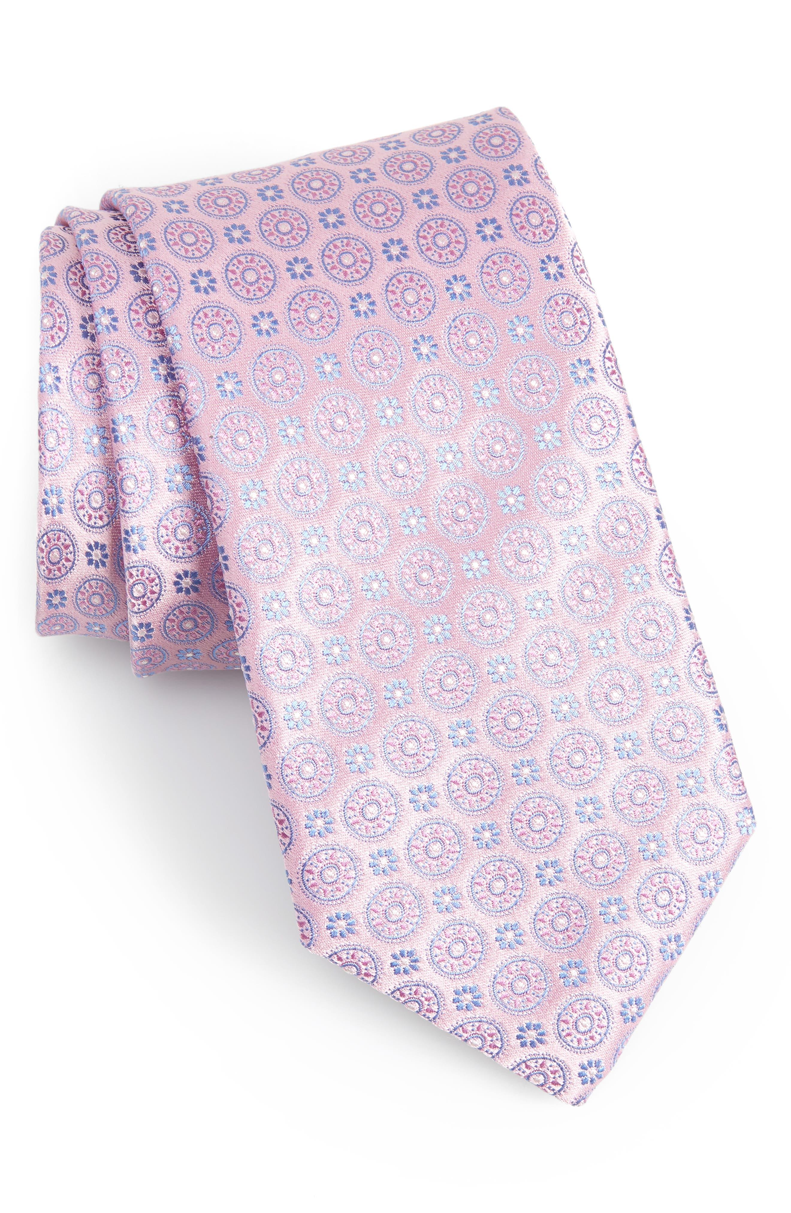 CANALI,                             Geometric Silk Tie,                             Main thumbnail 1, color,                             650
