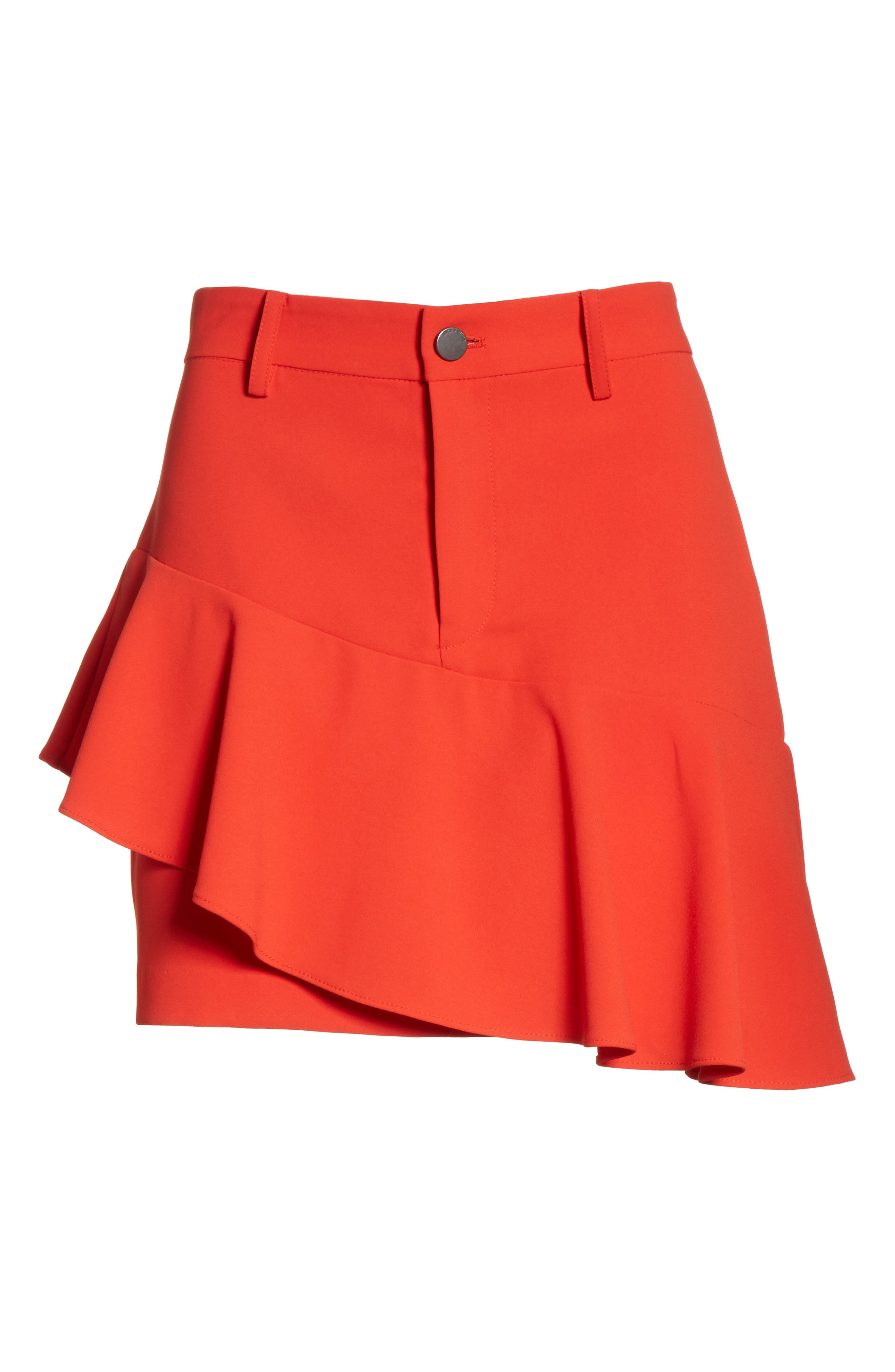 Nisa Ruffle Miniskirt,                             Alternate thumbnail 6, color,                             612