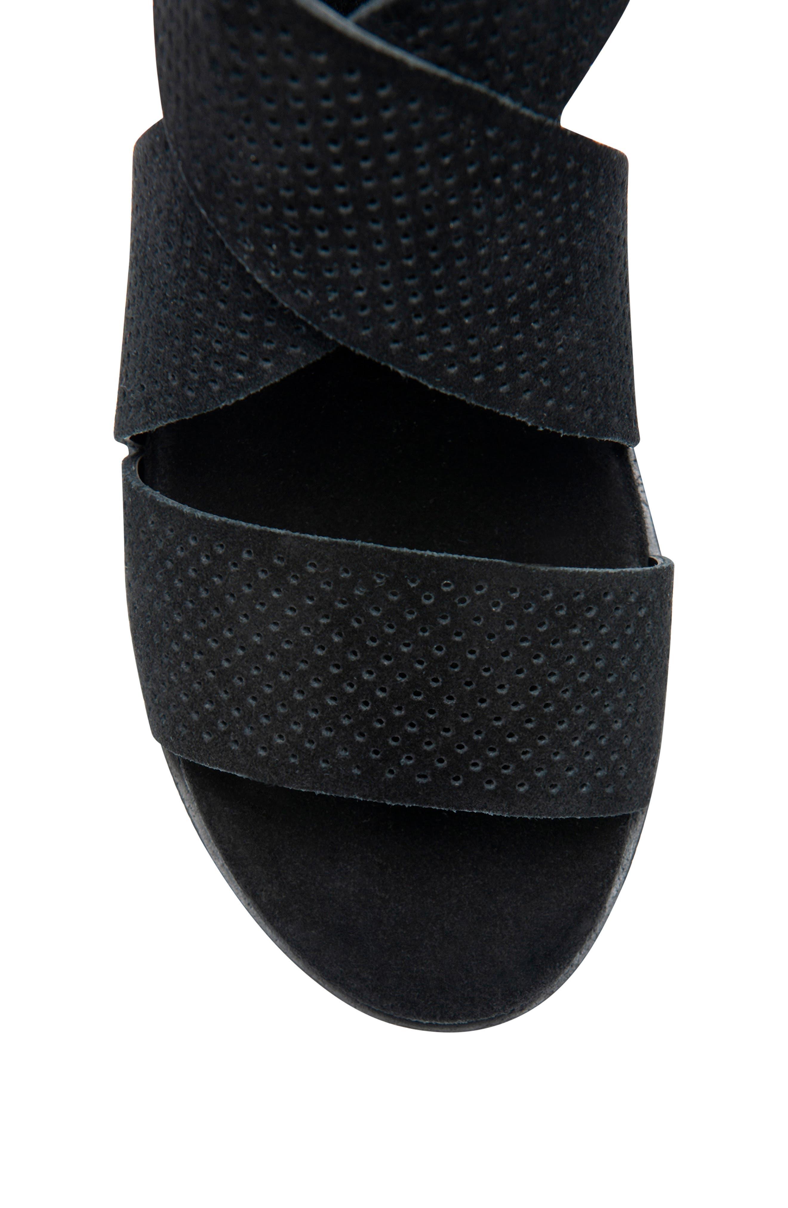 Cassie Waterproof Sandal,                             Alternate thumbnail 4, color,                             BLACK SUEDE