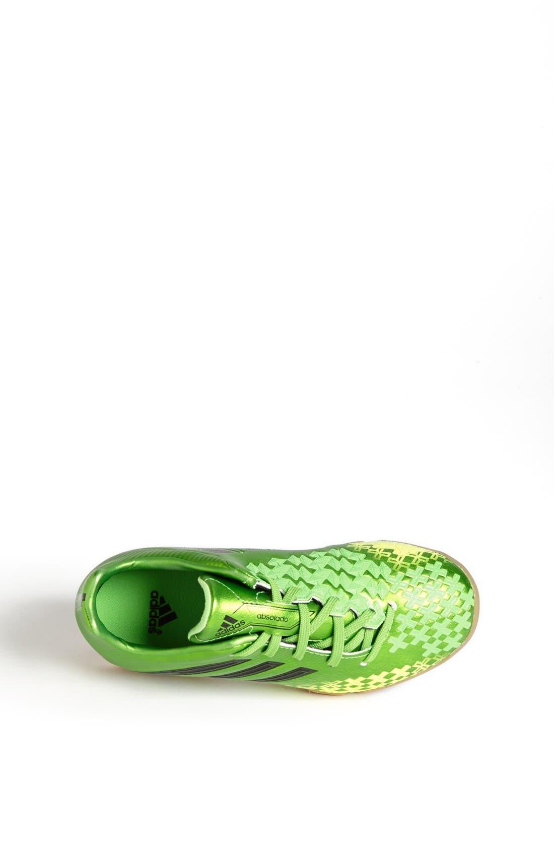 ADIDAS,                             'Predator Absolado LZ' Indoor Soccer Shoe,                             Alternate thumbnail 4, color,                             301