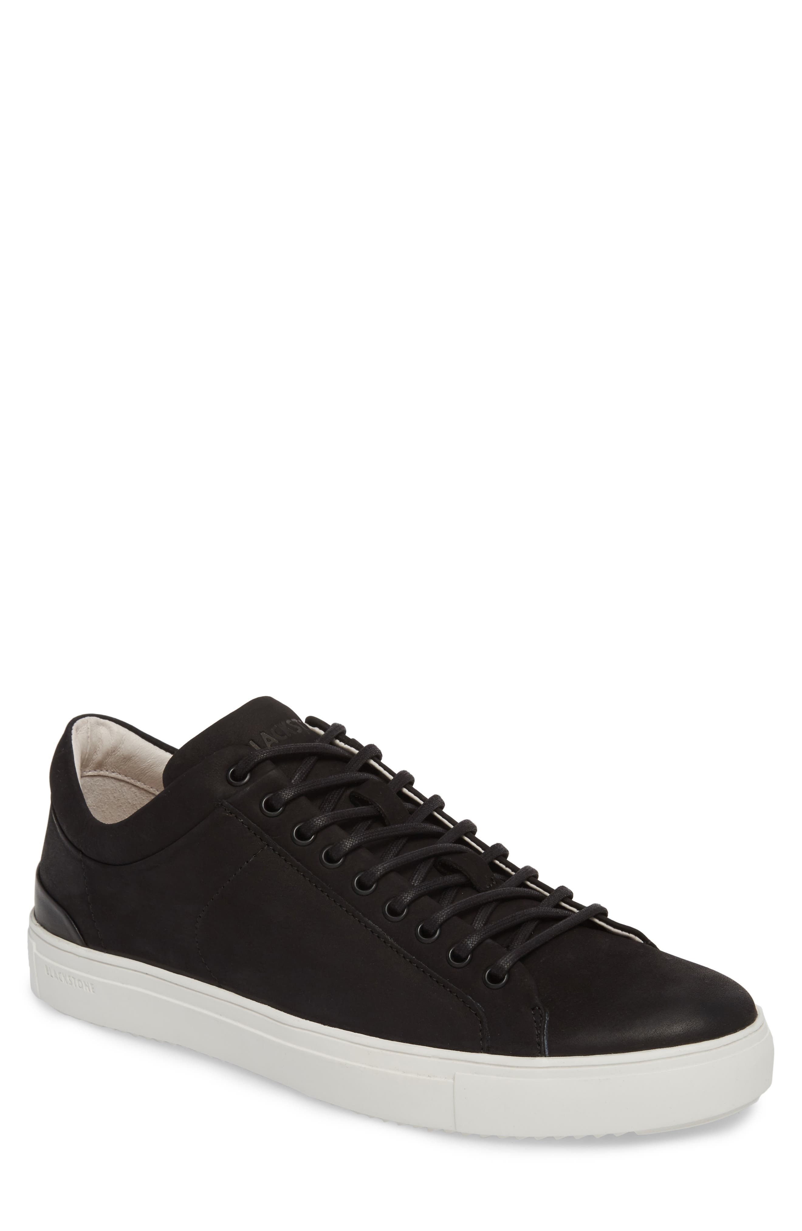 PM56 Low Top Sneaker,                             Main thumbnail 1, color,                             BLACK LEATHER