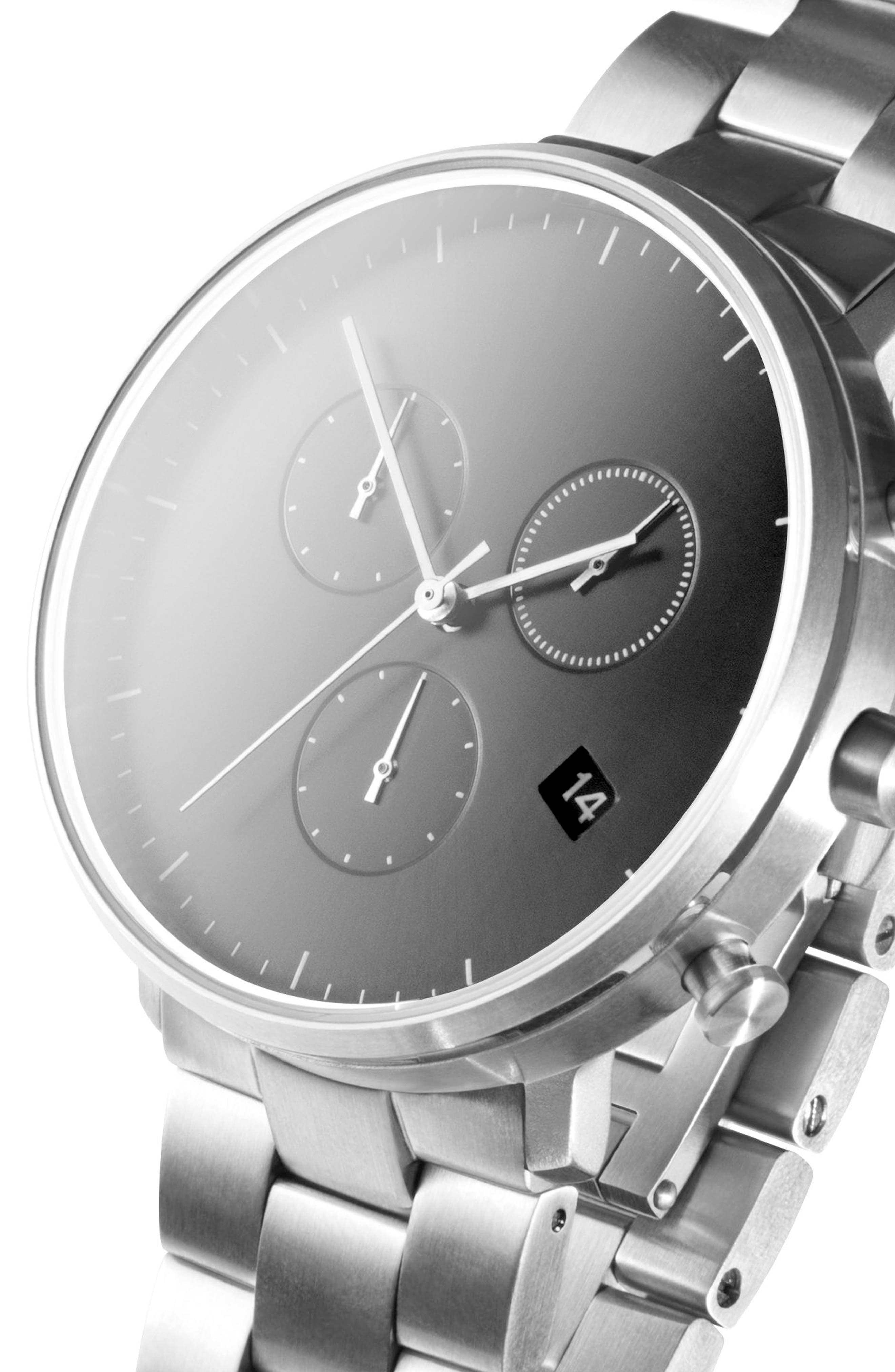 Leonard & Church Bleeker Chronograph Bracelet Watch, 40mm,                             Alternate thumbnail 11, color,