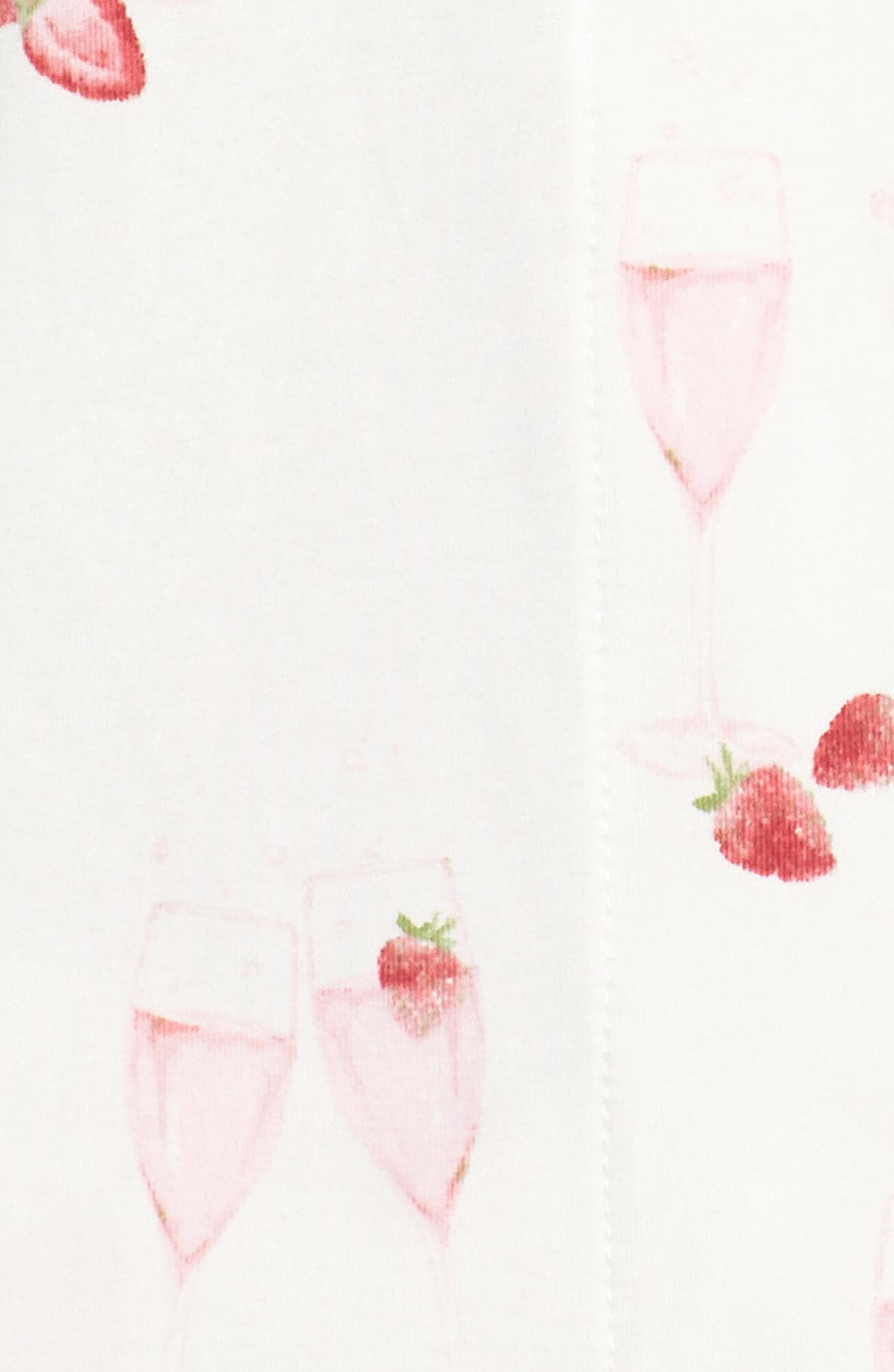 Strawberries & Champagne Print Pajamas,                             Alternate thumbnail 5, color,