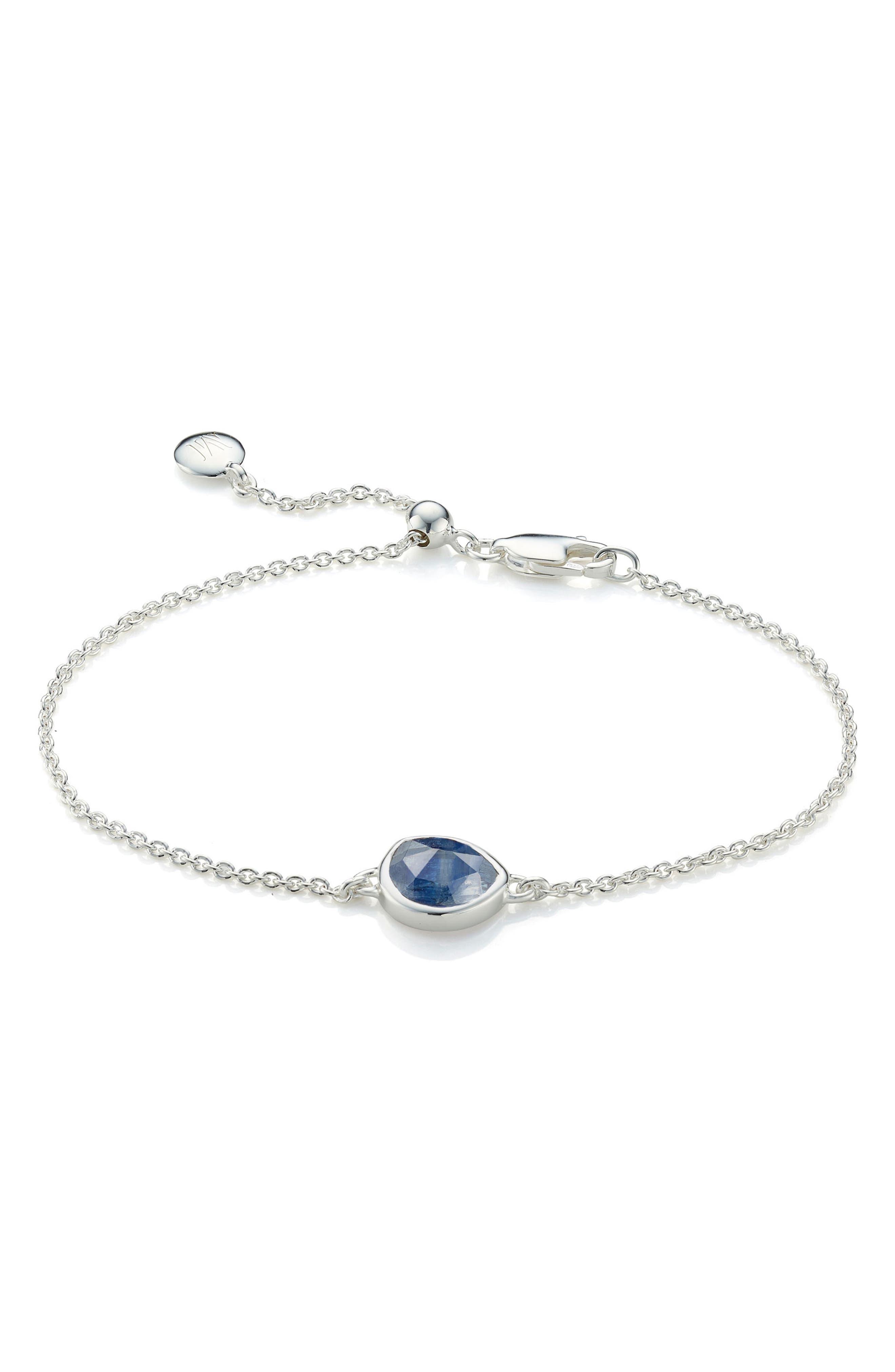 Siren Semiprecious Stone Bracelet,                             Main thumbnail 1, color,                             SILVER/ KYANITE