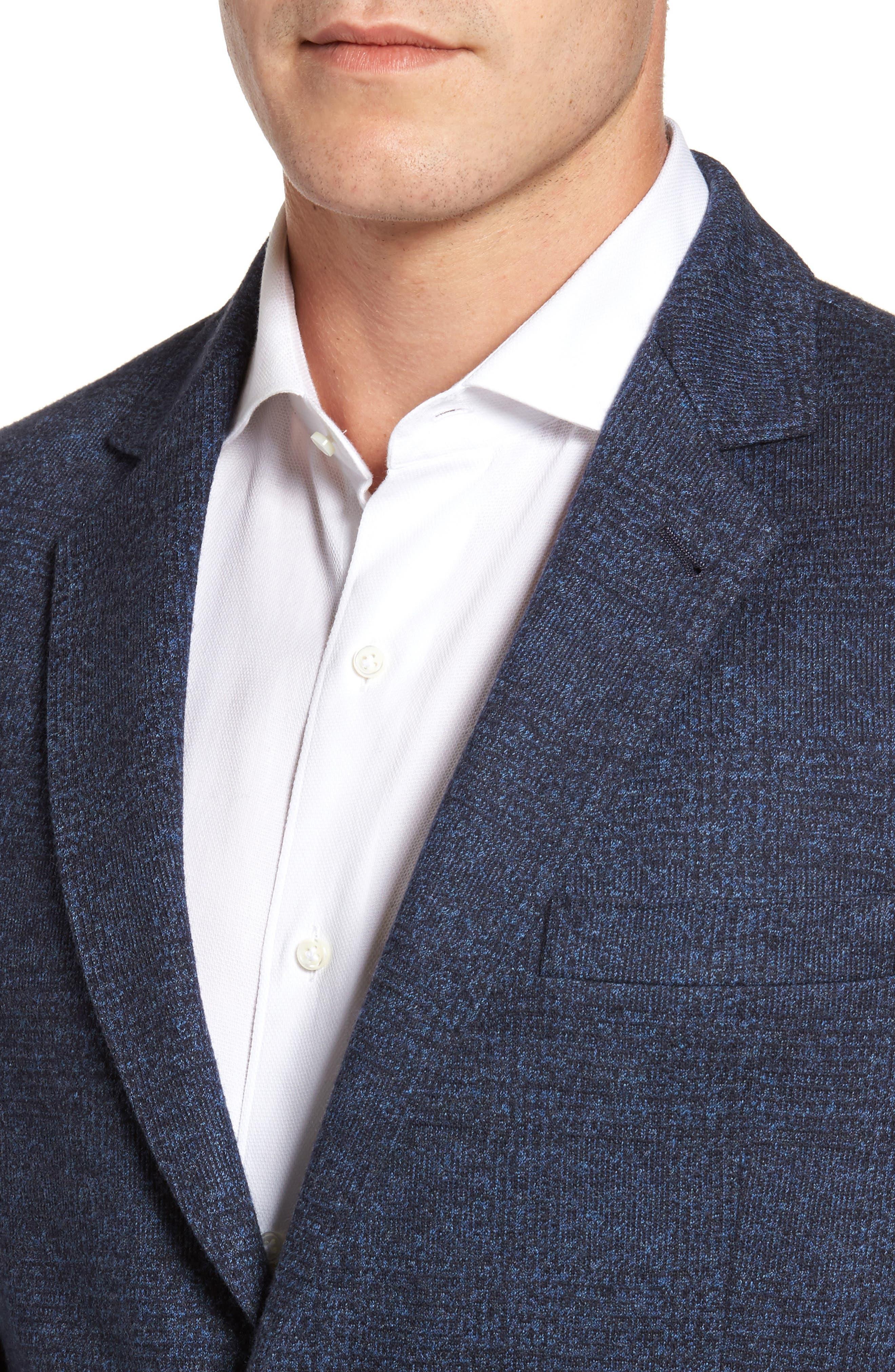 Classic Fit Cotton & Wool Jersey Sport Coat,                             Alternate thumbnail 4, color,