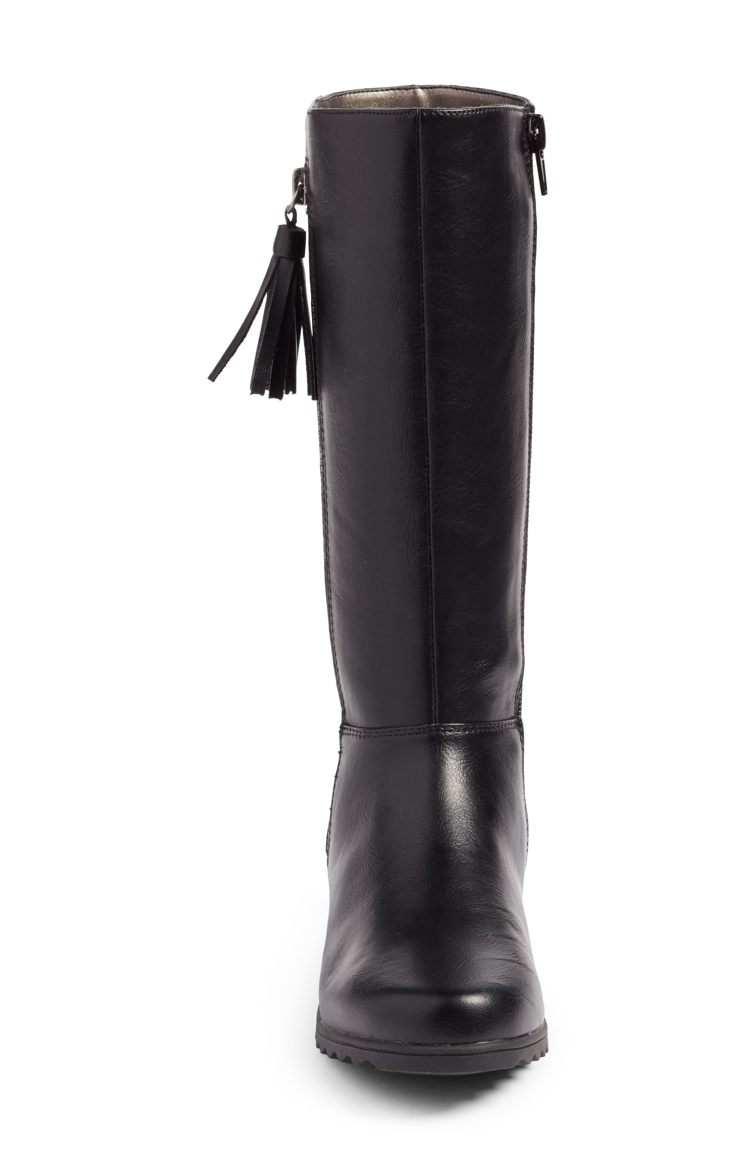 Kelsie Tassel Boot,                             Alternate thumbnail 4, color,                             001