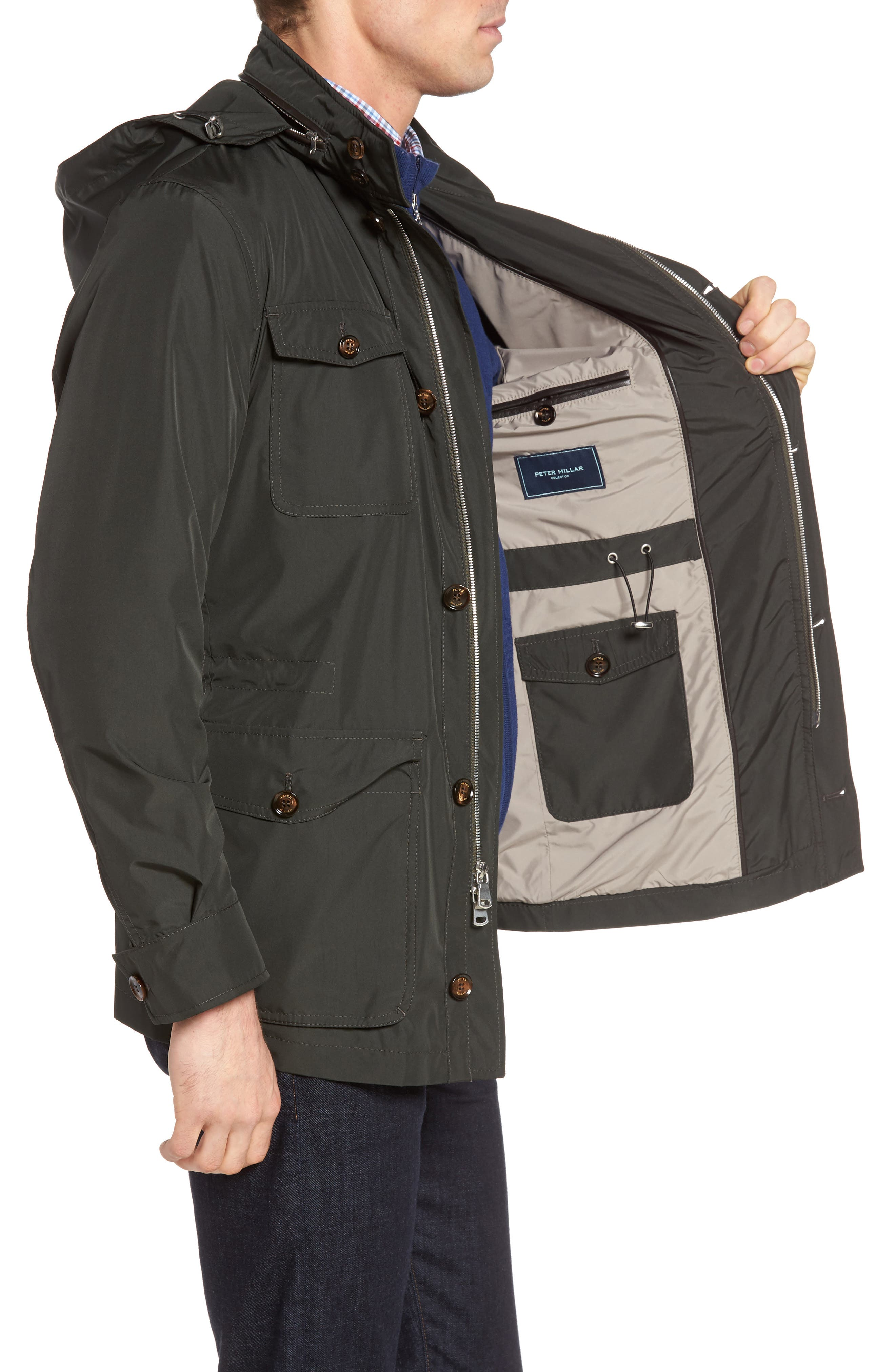 Peter Millar All Weather Discovery Jacket,                             Alternate thumbnail 3, color,                             359