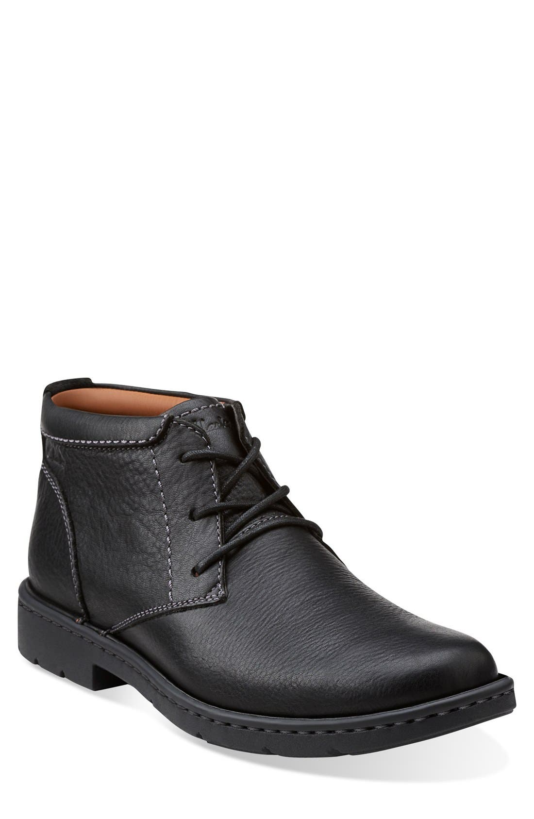 'Stratton - Limit' Plain Toe Boot,                             Main thumbnail 1, color,                             001