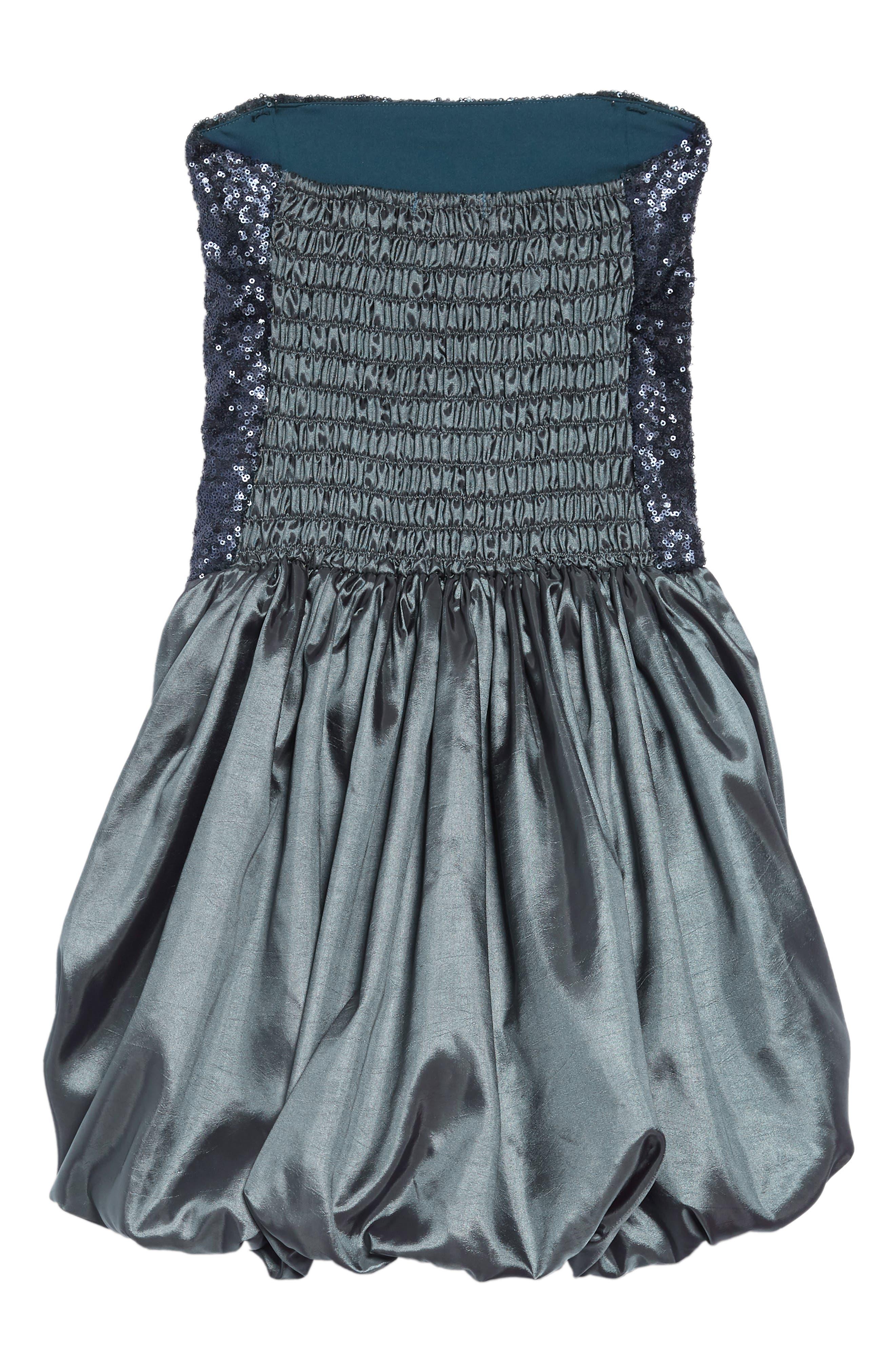 Stella M'Lia Sequin Bubble Dress,                             Alternate thumbnail 2, color,                             GREY