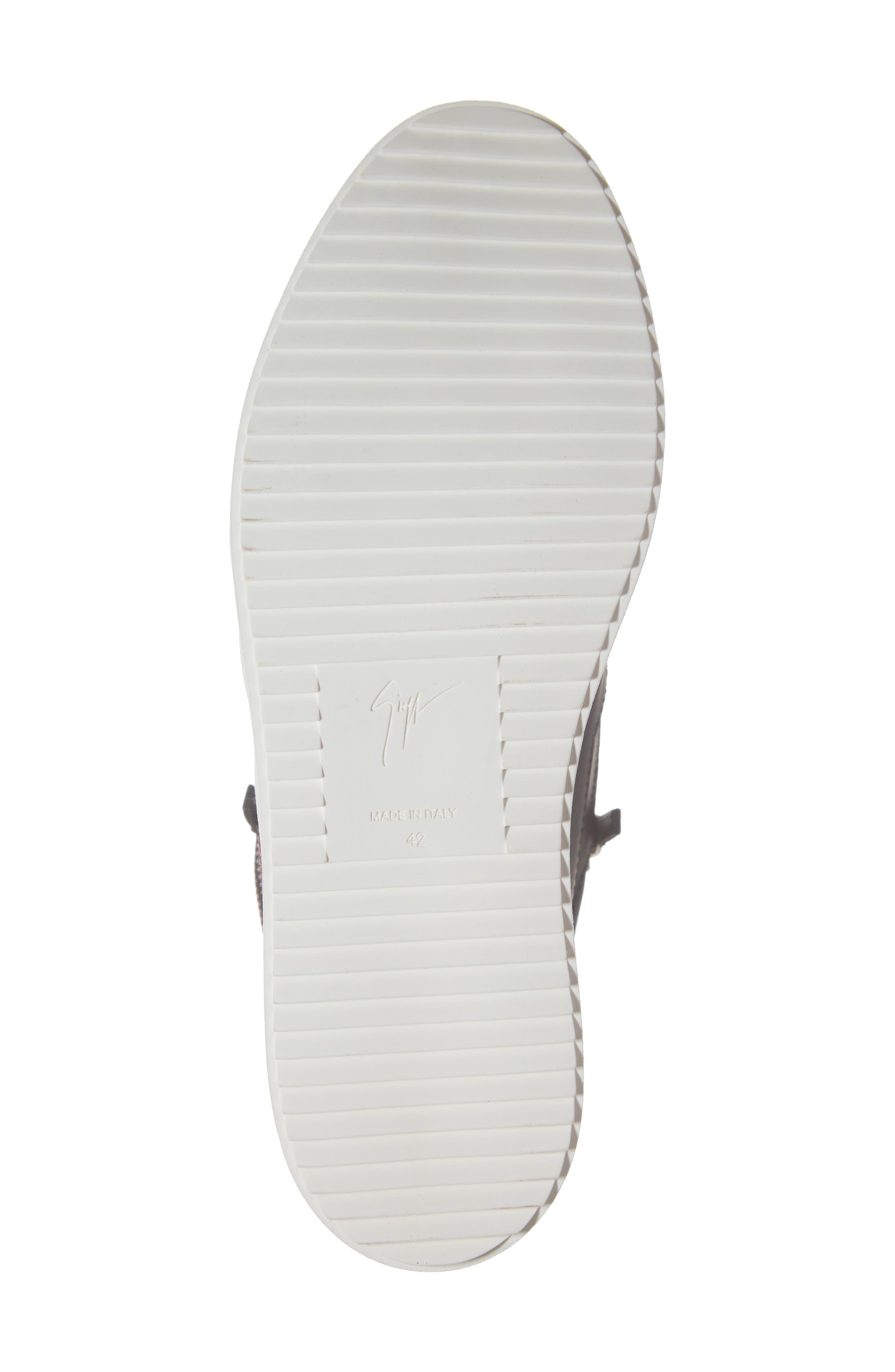 Multistrap Mid Top Sneaker,                             Alternate thumbnail 6, color,                             BLACK/ BLACK