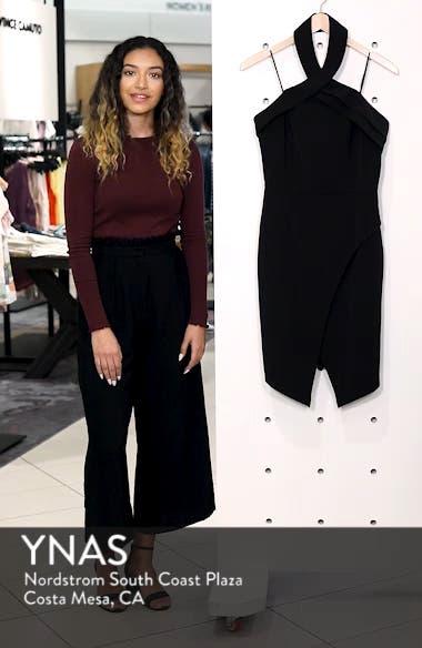 Halter Asymmetrical Sheath Dress, sales video thumbnail