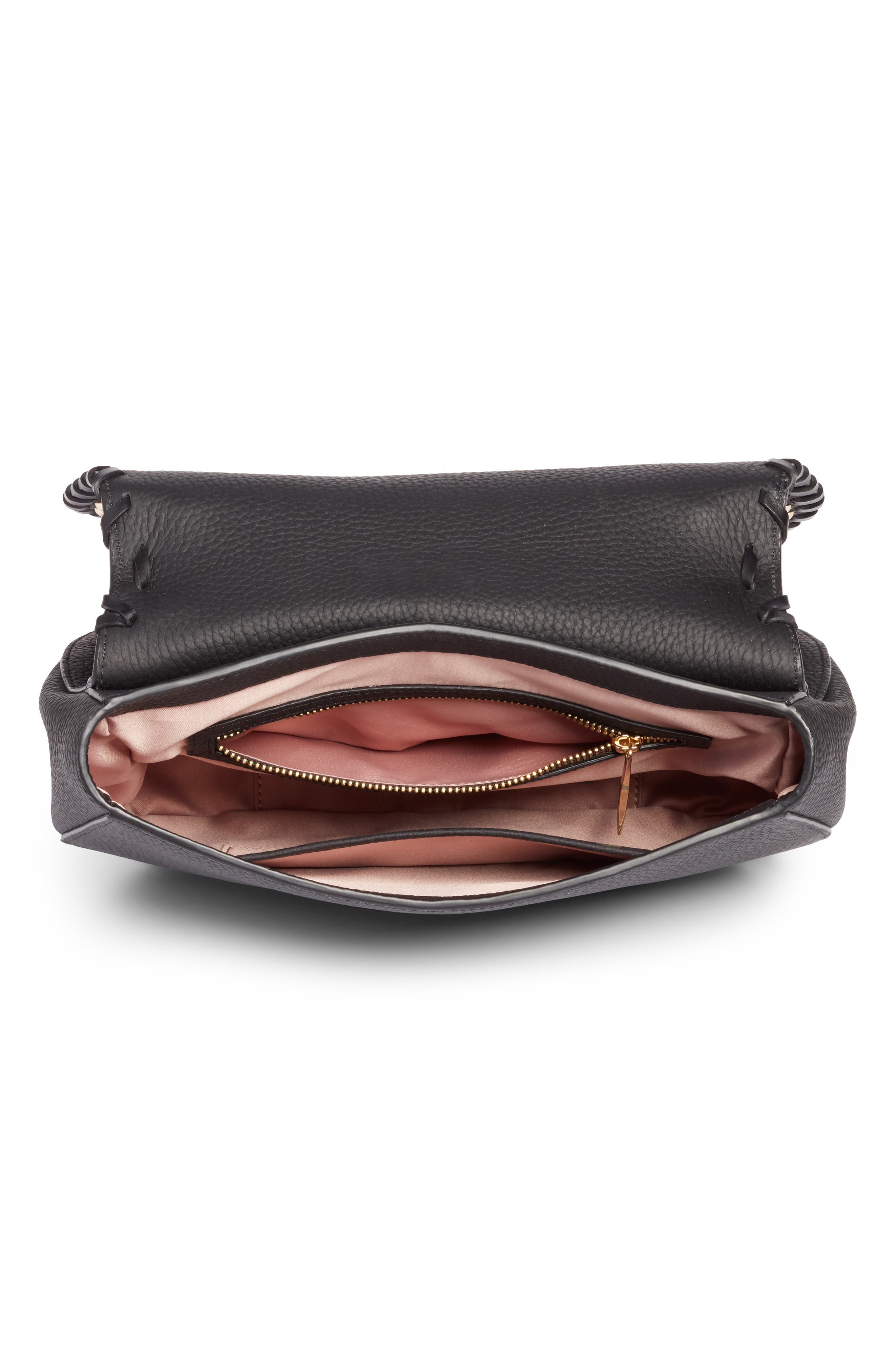 madison daniels drive - tressa embellished leather crossbody bag,                             Alternate thumbnail 4, color,                             001
