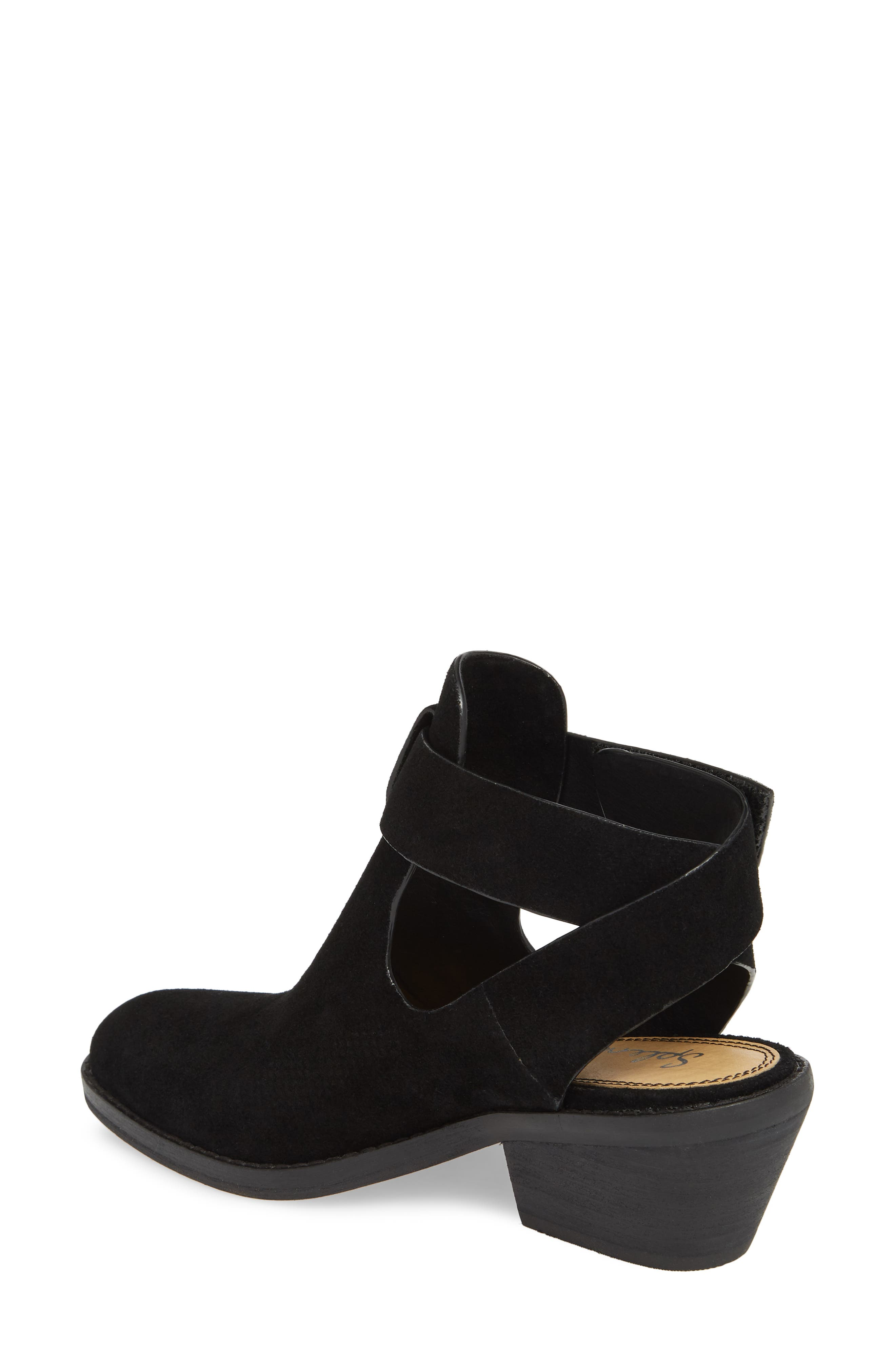 Cadell Bootie,                             Alternate thumbnail 2, color,                             BLACK SUEDE