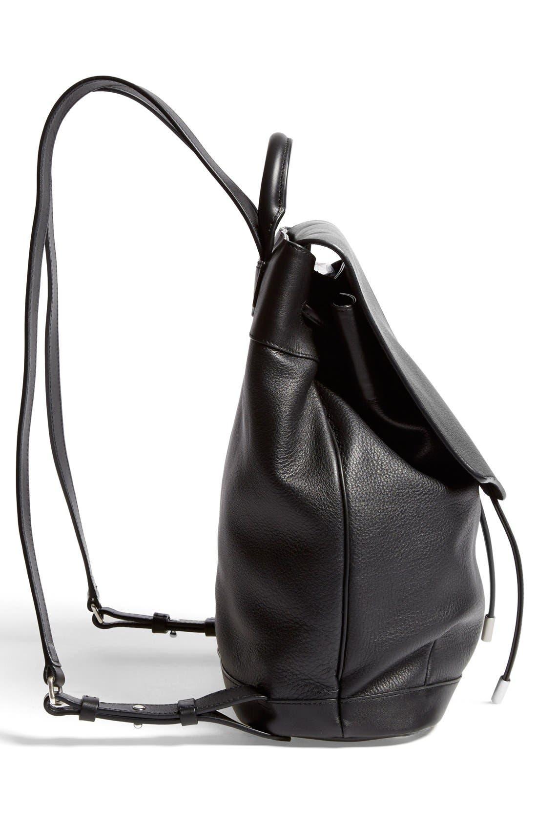 RAG & BONE,                             'Pilot' Leather Backpack,                             Alternate thumbnail 4, color,                             001