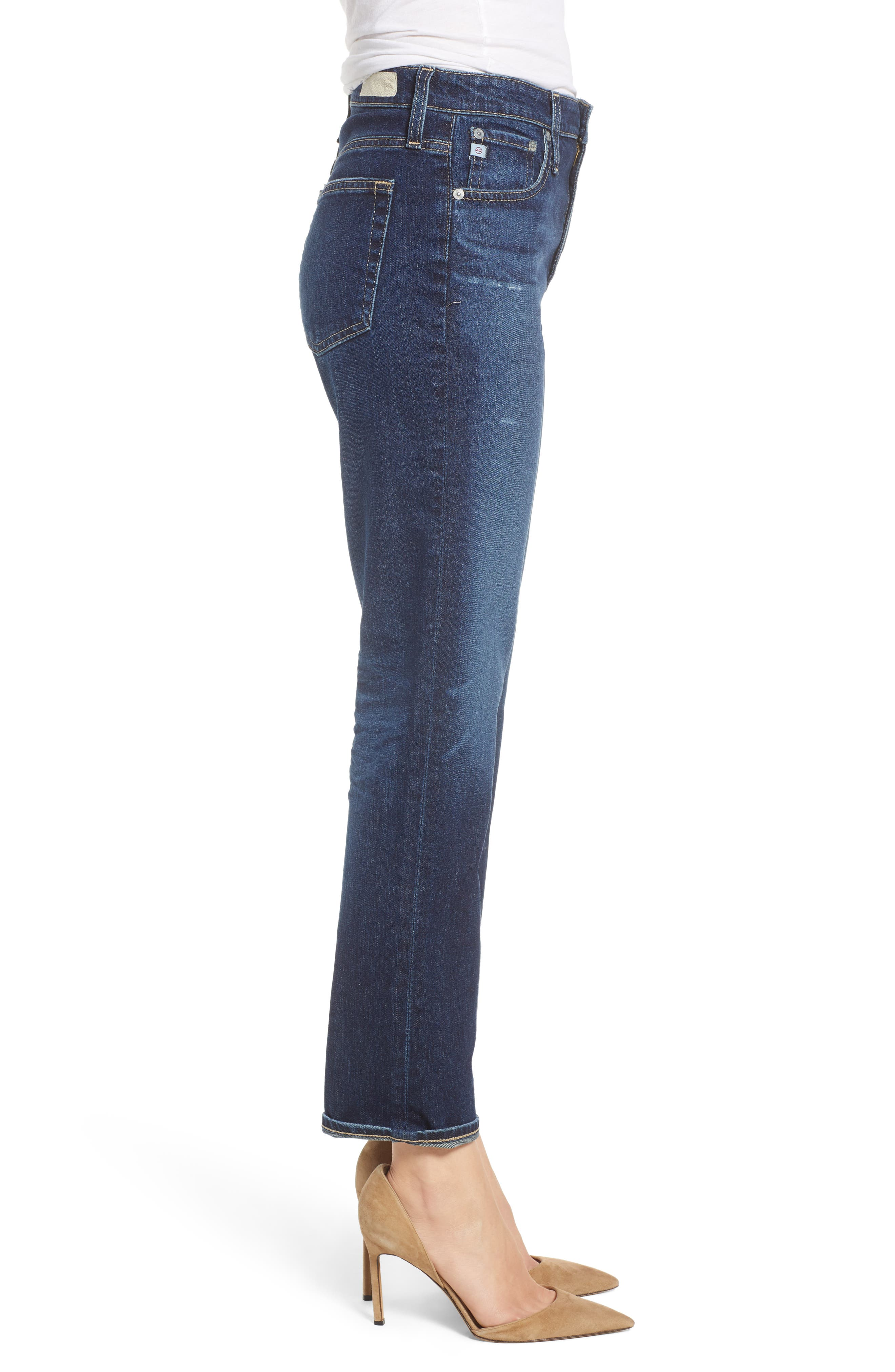 The Isabelle High Waist Crop Straight Leg Jeans,                             Alternate thumbnail 3, color,                             12 YEARS VERBIAGE