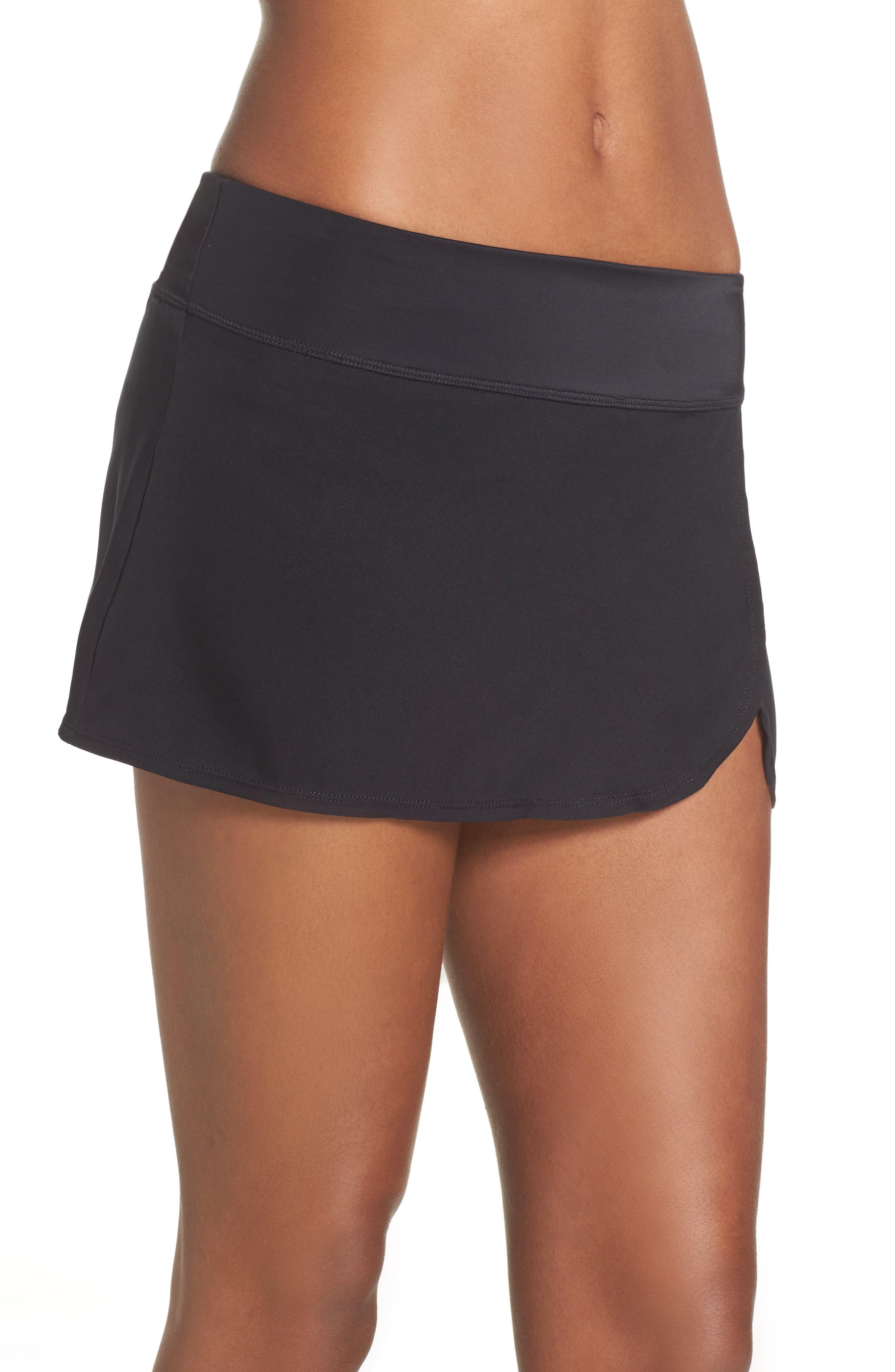 Swim Board Skirt,                             Alternate thumbnail 3, color,                             BLACK