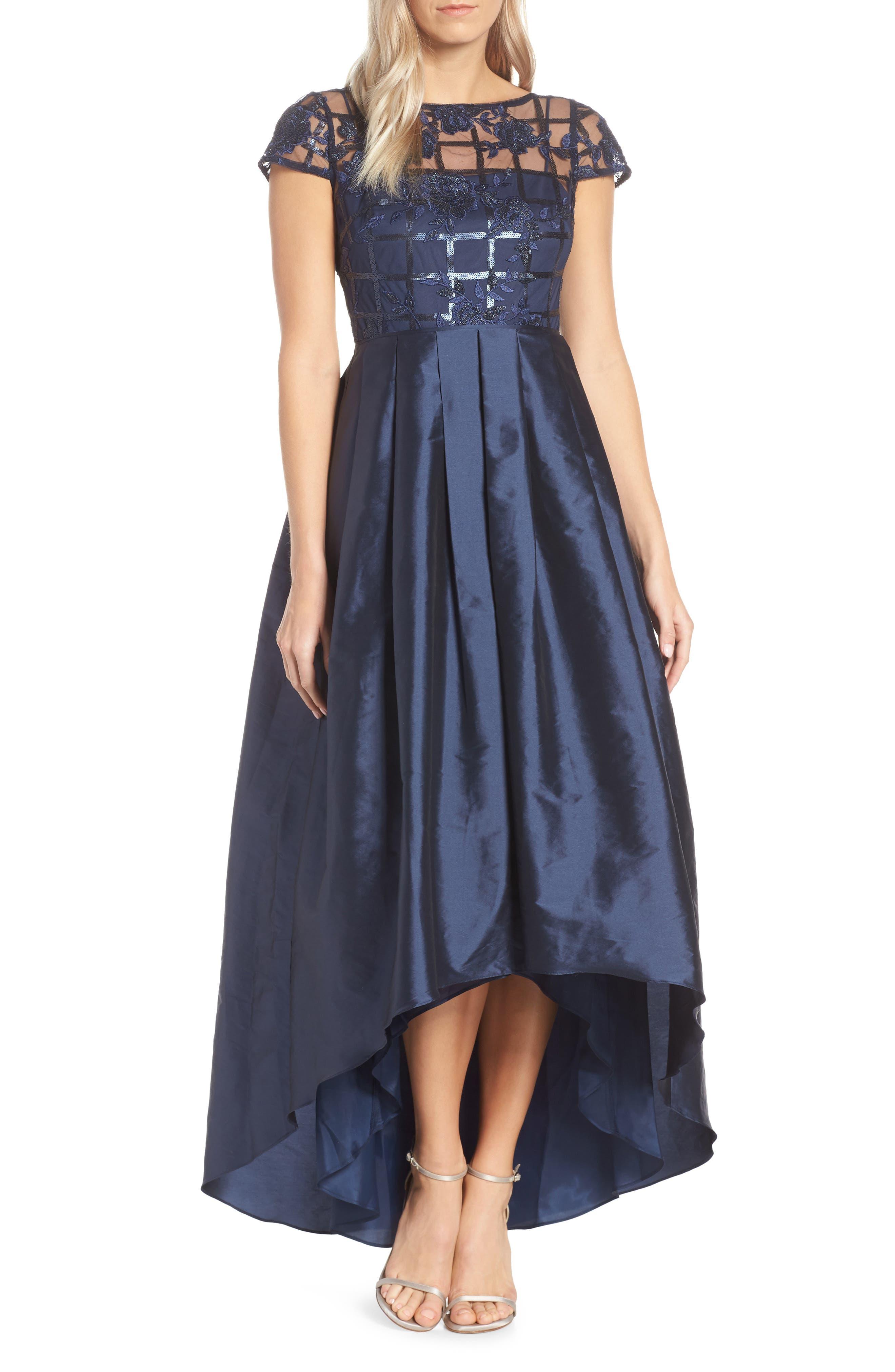 Adrianna Papell Sequin Evening Dress, Blue