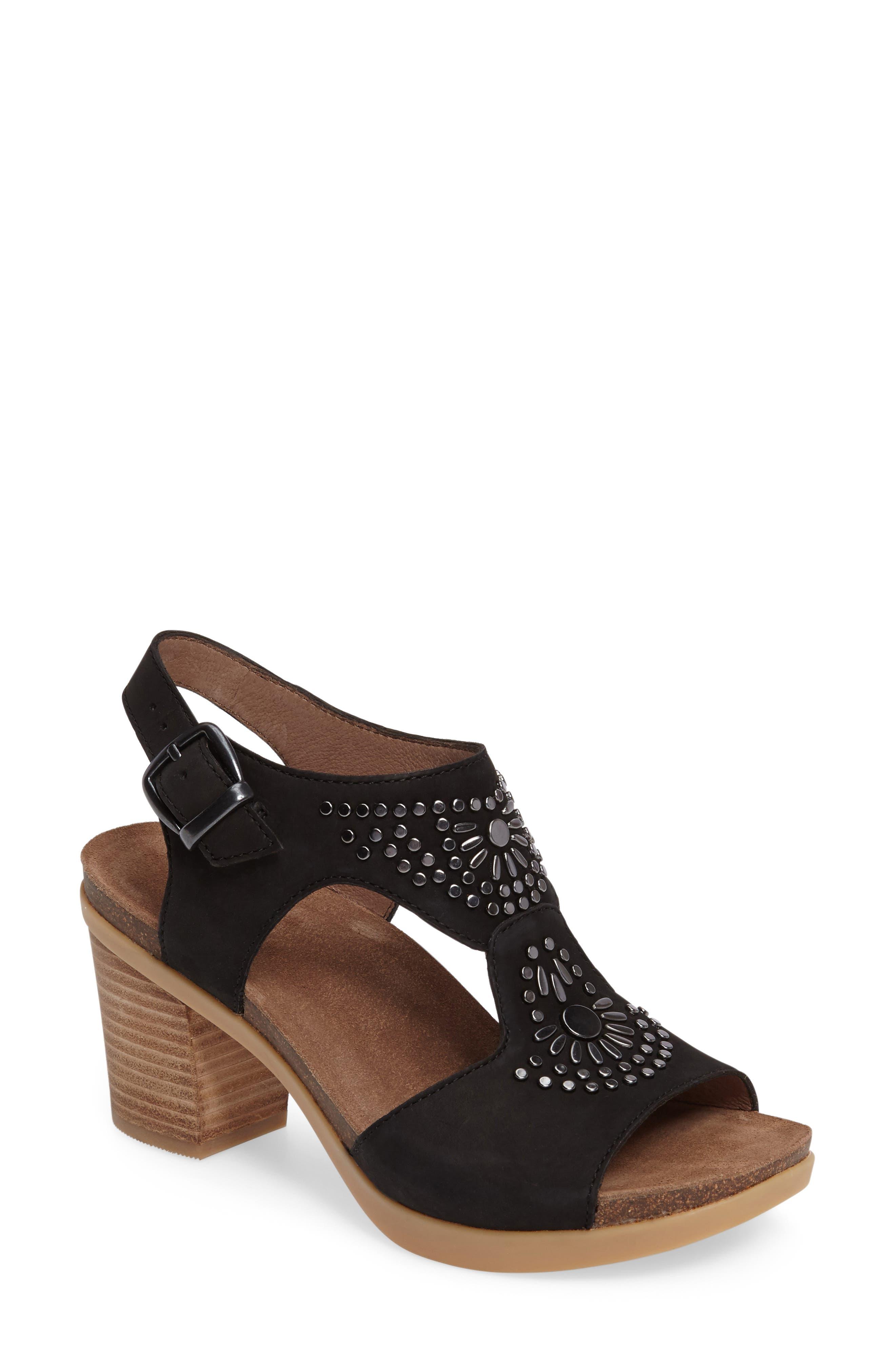 Deandra Studded Sandal,                         Main,                         color, 001