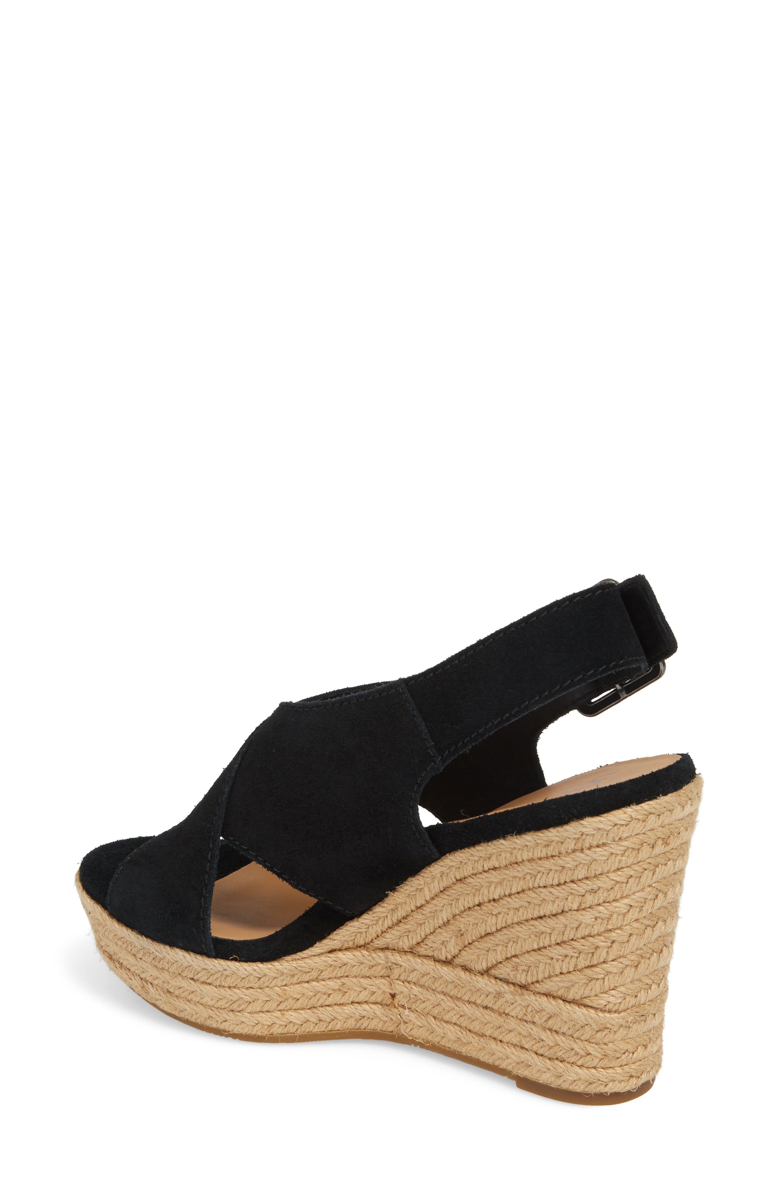 Harlow Platform Wedge Sandal,                             Alternate thumbnail 2, color,                             001