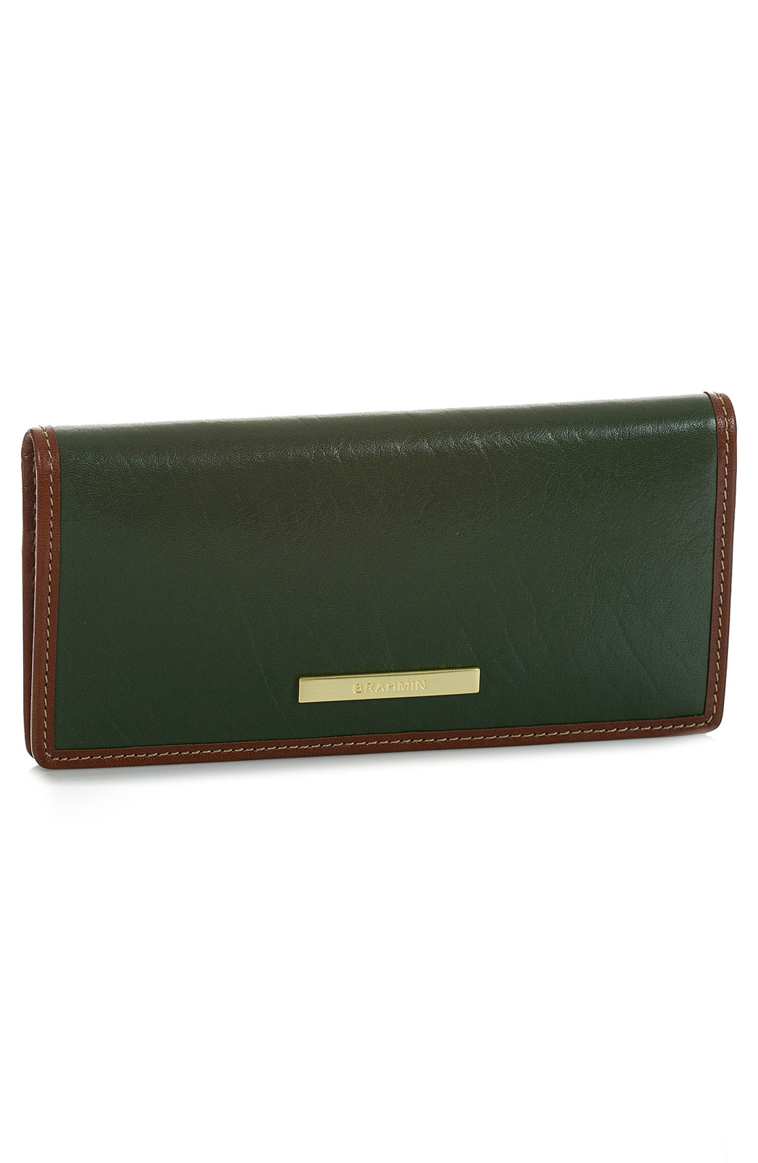 Ady Leather Wallet,                             Alternate thumbnail 4, color,                             HUNTER