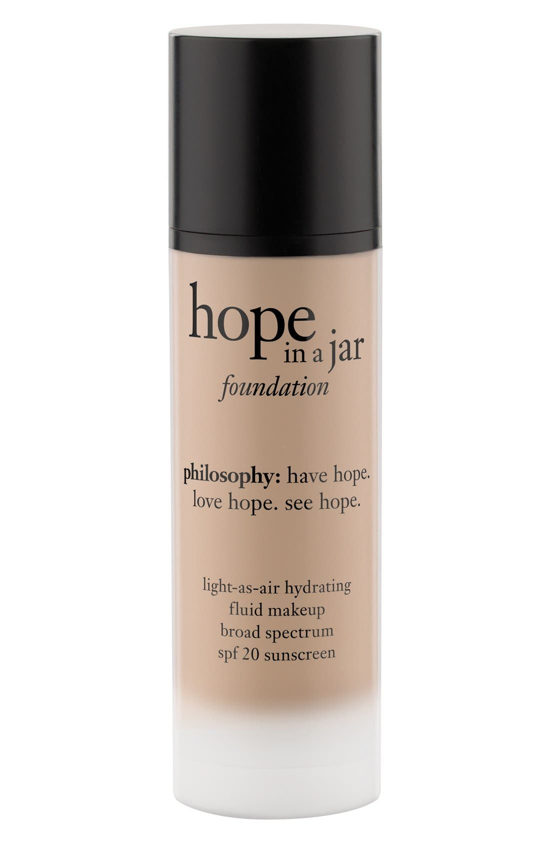 'hope in a jar' light-as-air hydrating fluid foundation SPF 20,                             Alternate thumbnail 2, color,                             SHADE 5