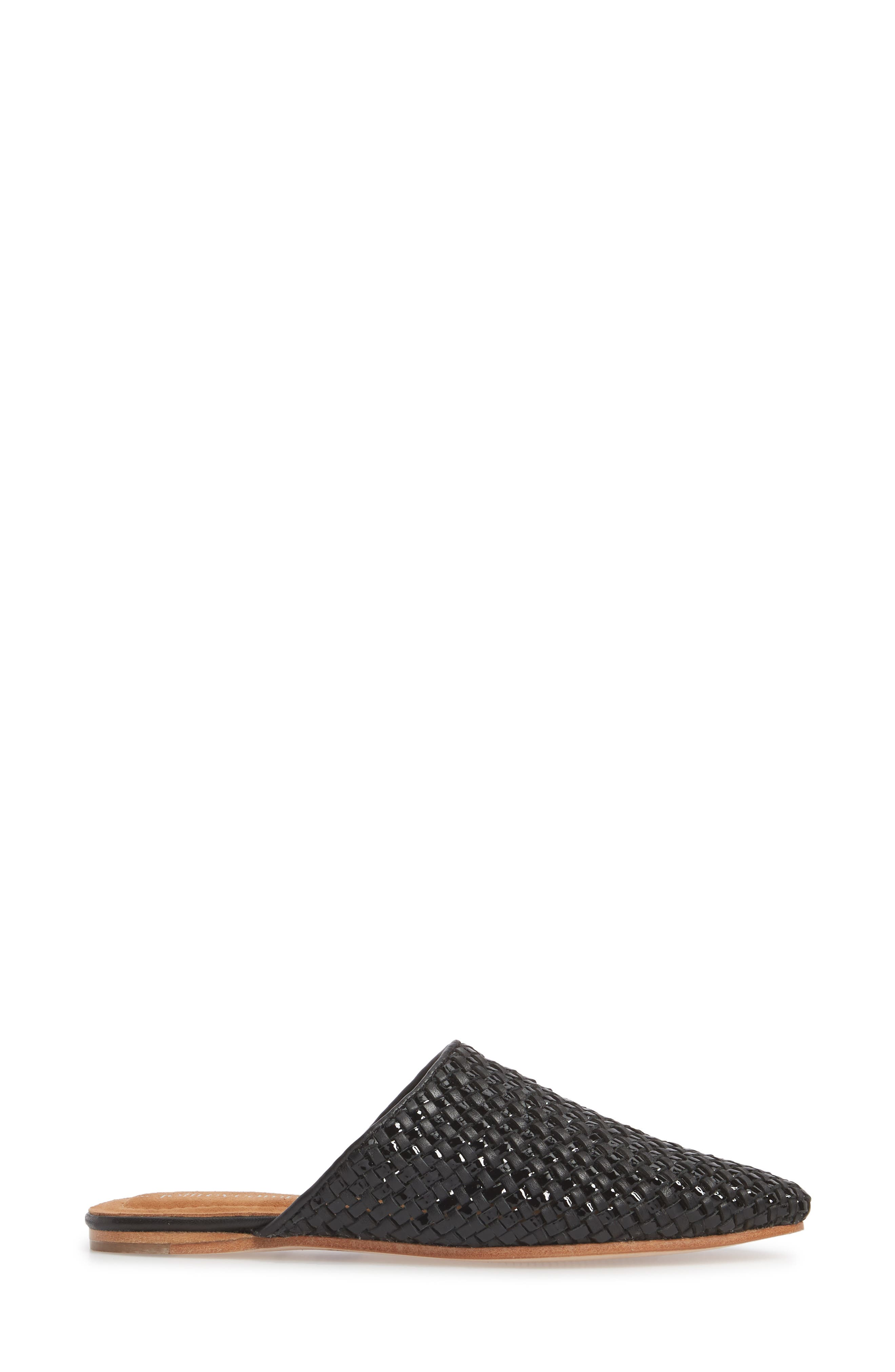 Dashi Woven Mule,                             Alternate thumbnail 3, color,                             BLACK PATENT