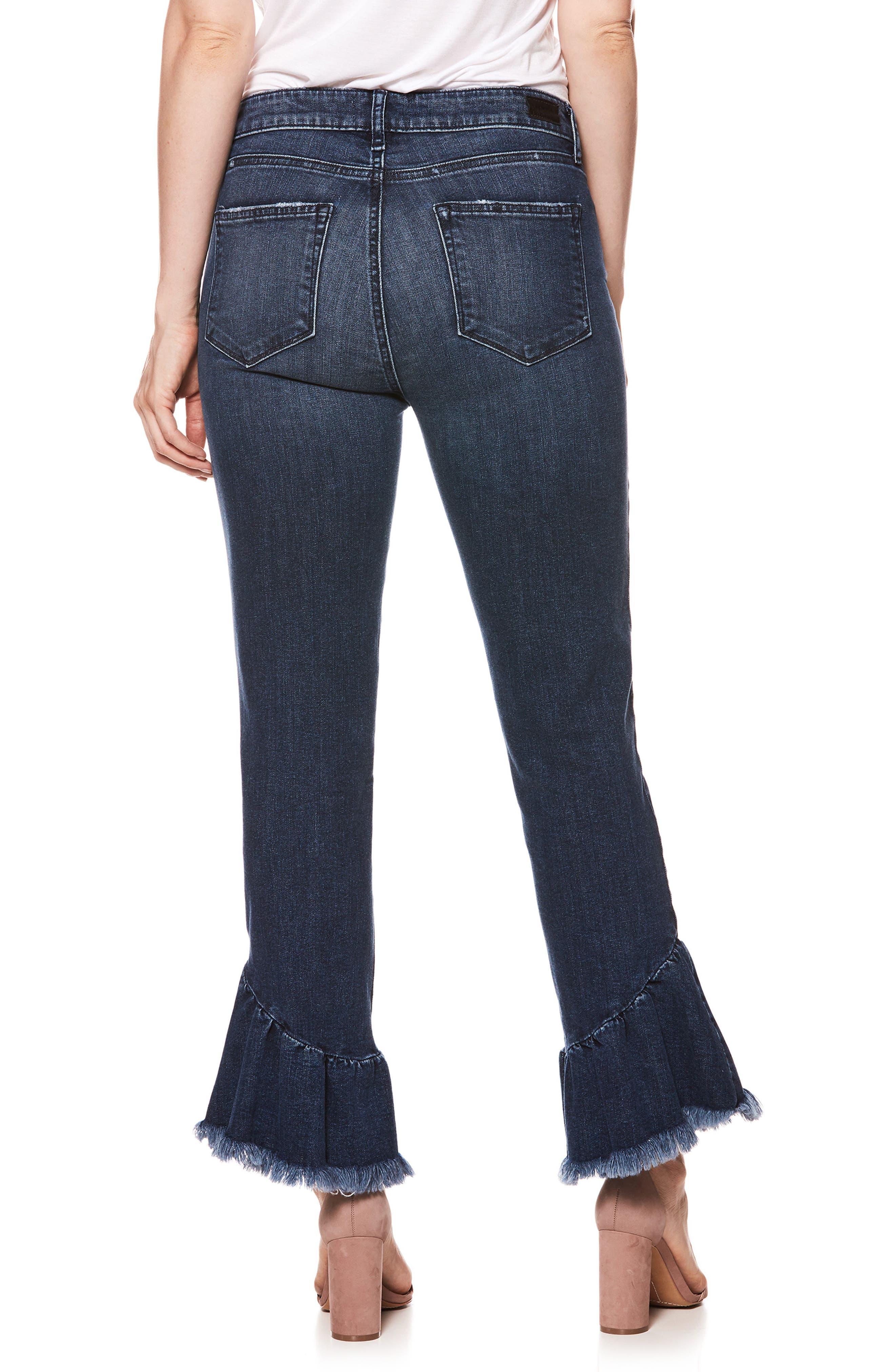 Hoxton High Waist Ankle Straight Leg Jeans,                             Alternate thumbnail 2, color,
