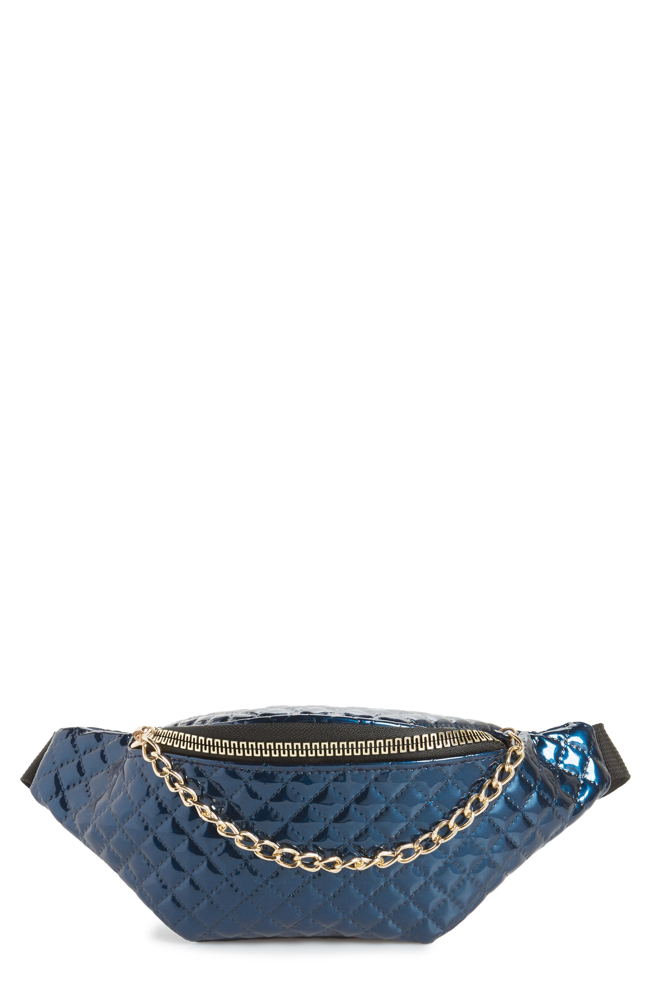 Chain Detail Quilted Belt Bag,                         Main,                         color, 400