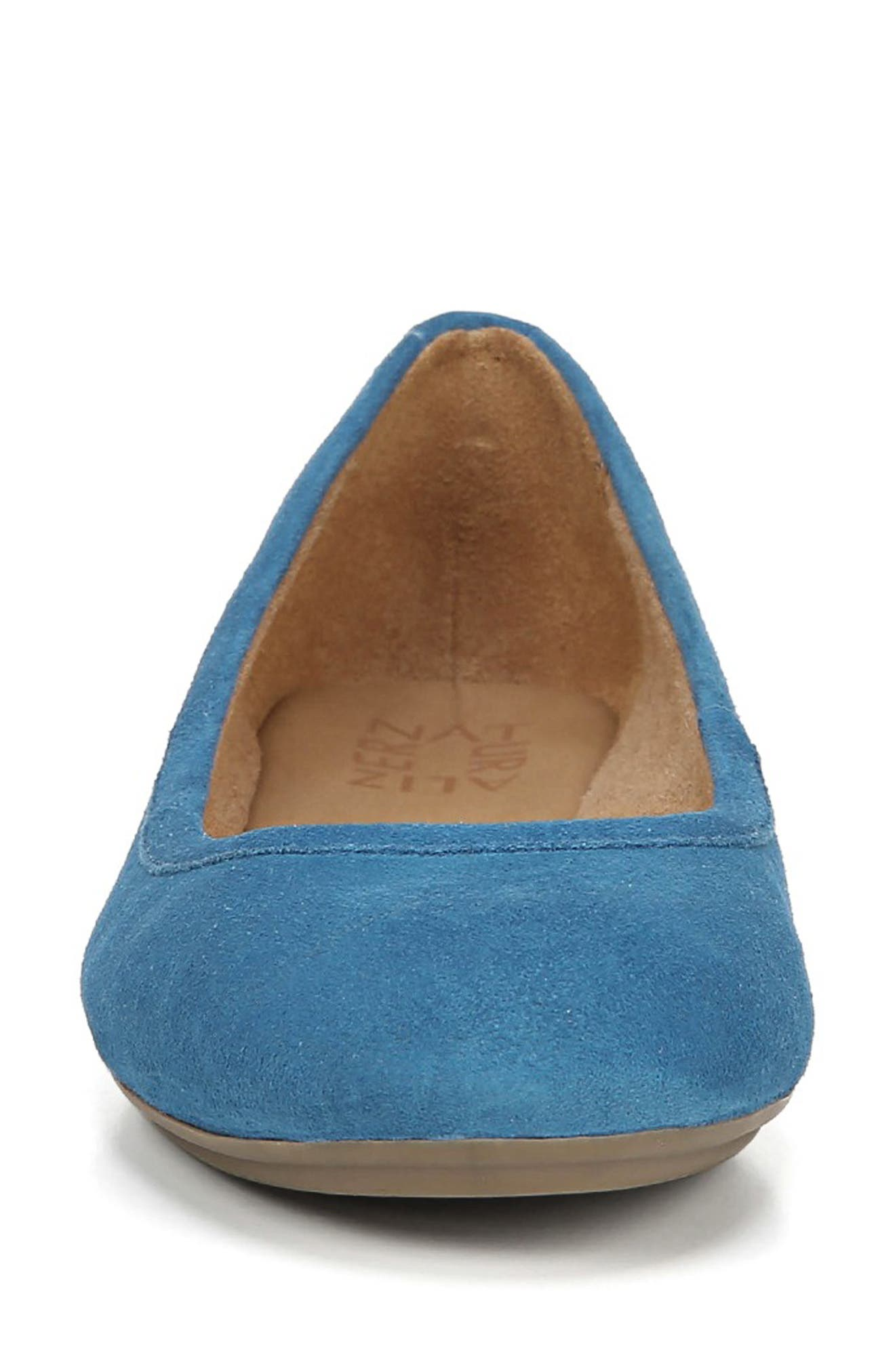 Brittany Flat,                             Alternate thumbnail 4, color,                             ADMIRAL BLUE LEATHER