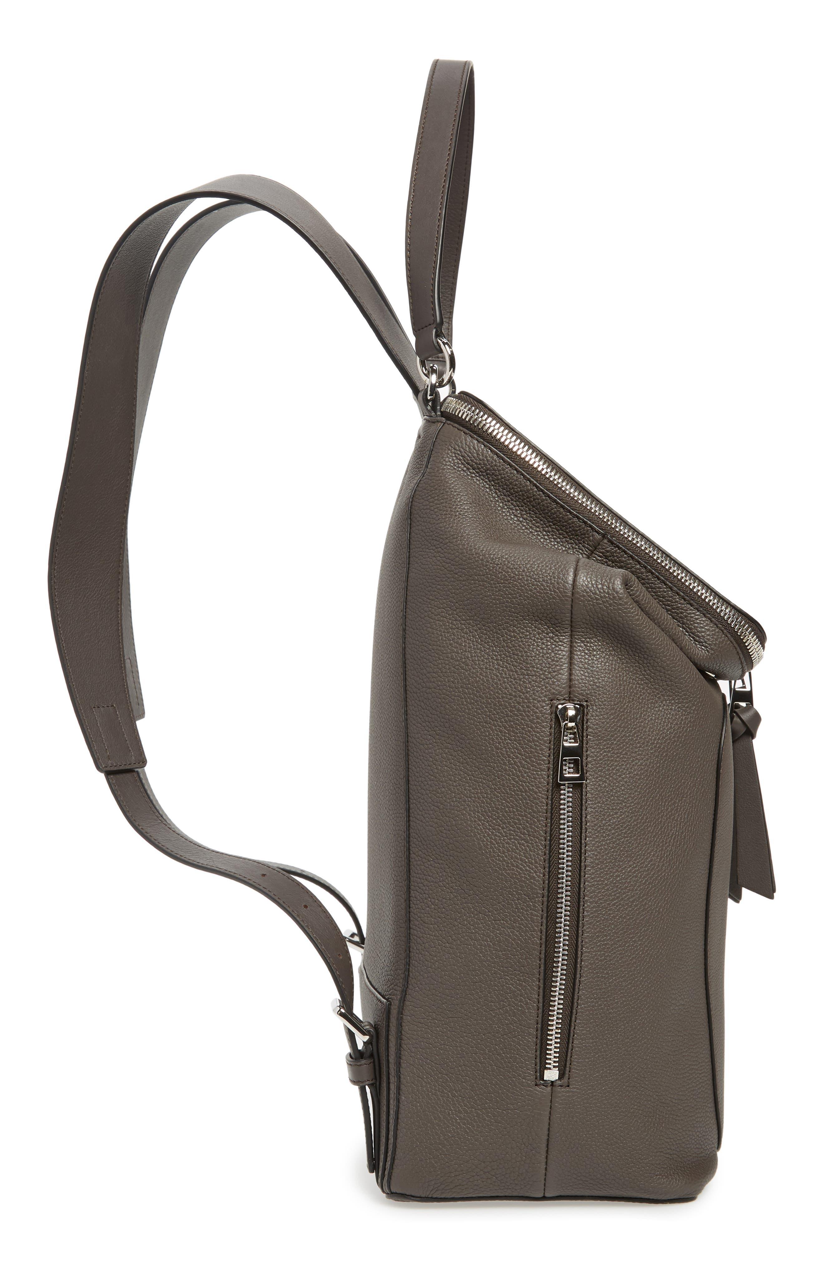 Goya Plaid Calfskin Leather Backpack,                             Alternate thumbnail 5, color,                             022