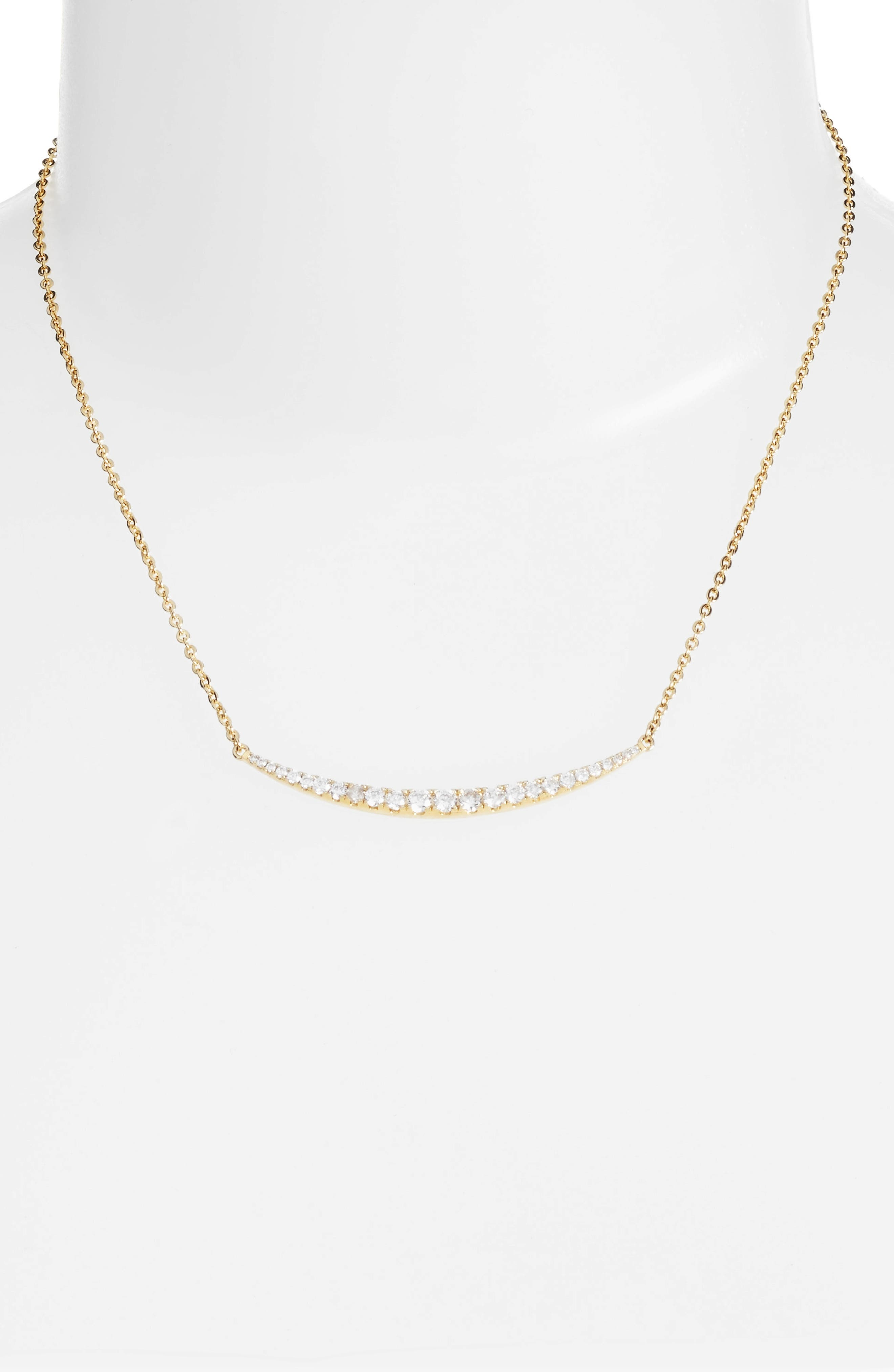 Crescent Pendant Necklace,                             Alternate thumbnail 4, color,