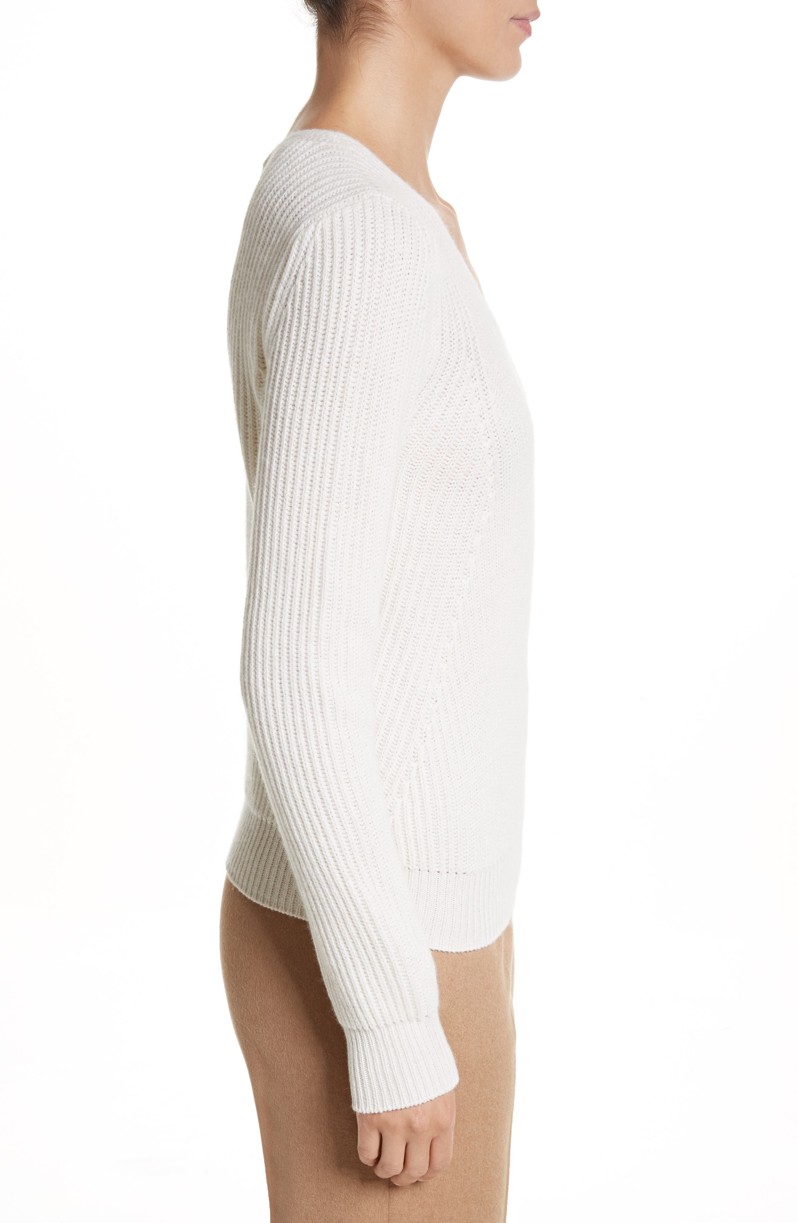 Sax Wool & Cashmere Sweater,                             Alternate thumbnail 3, color,                             900