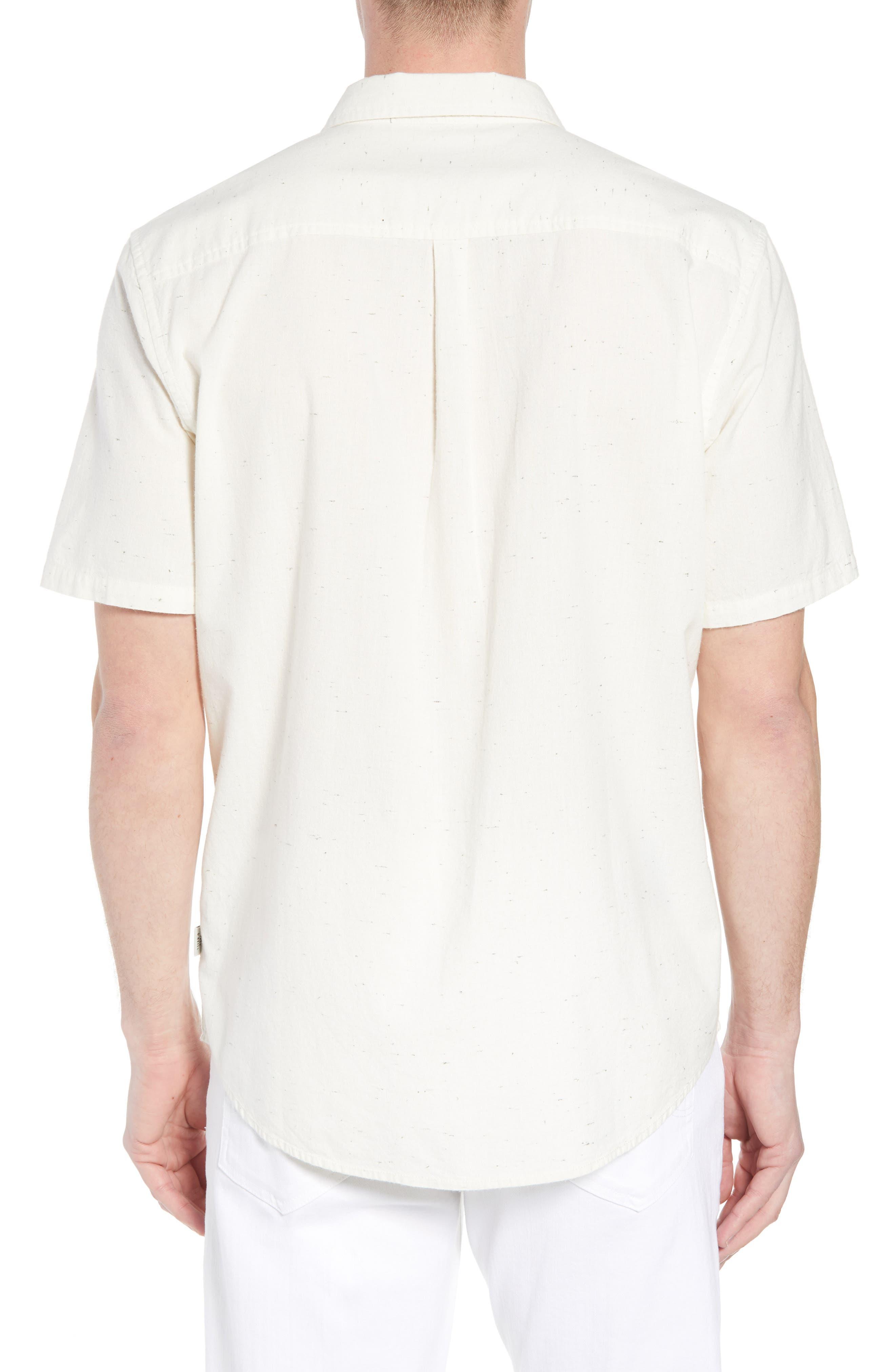 Charter Regular Fit Short Sleeve Sport Shirt,                             Alternate thumbnail 2, color,                             WHITE