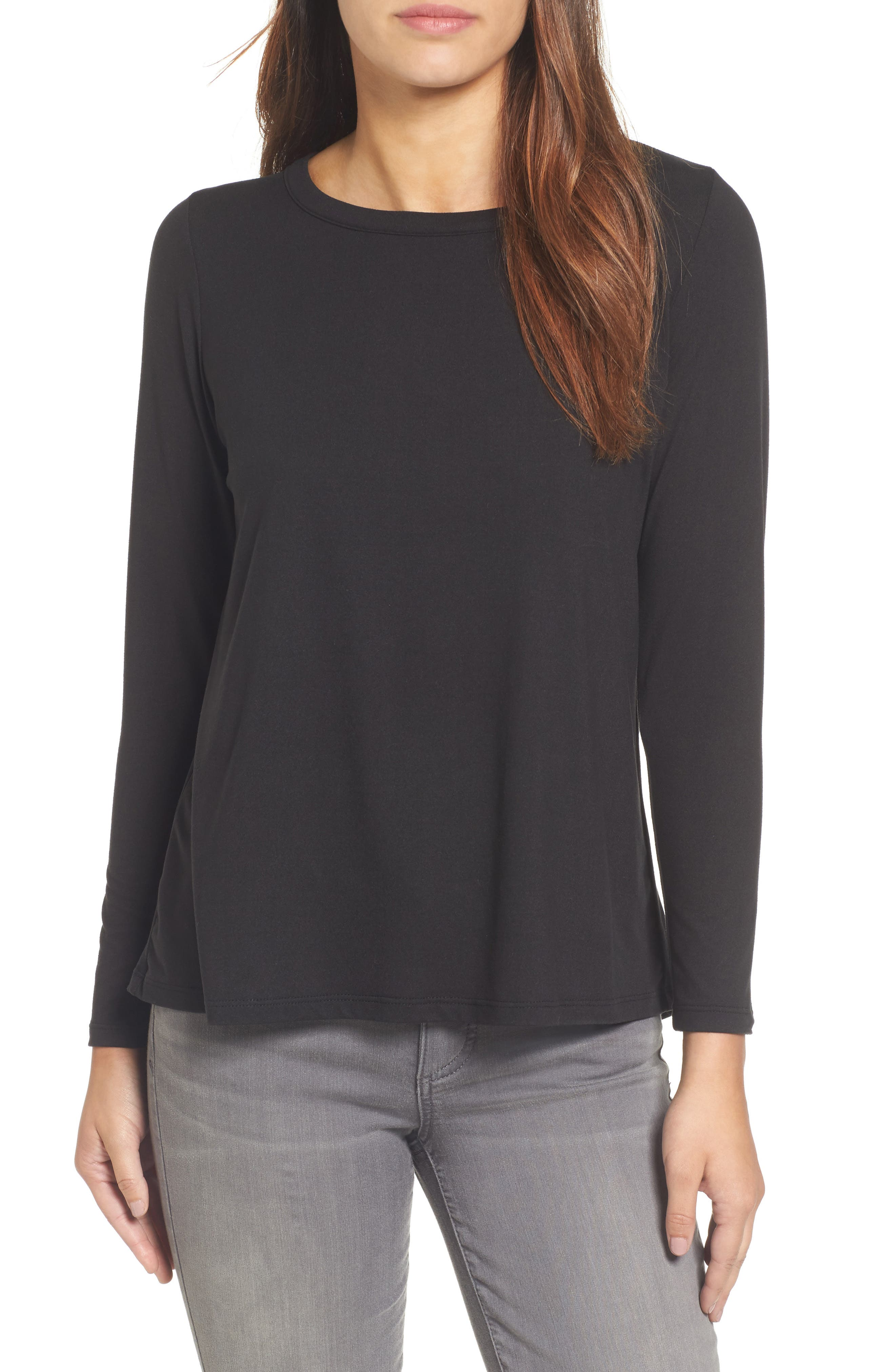 High/Low Bow Back Top,                         Main,                         color, 001