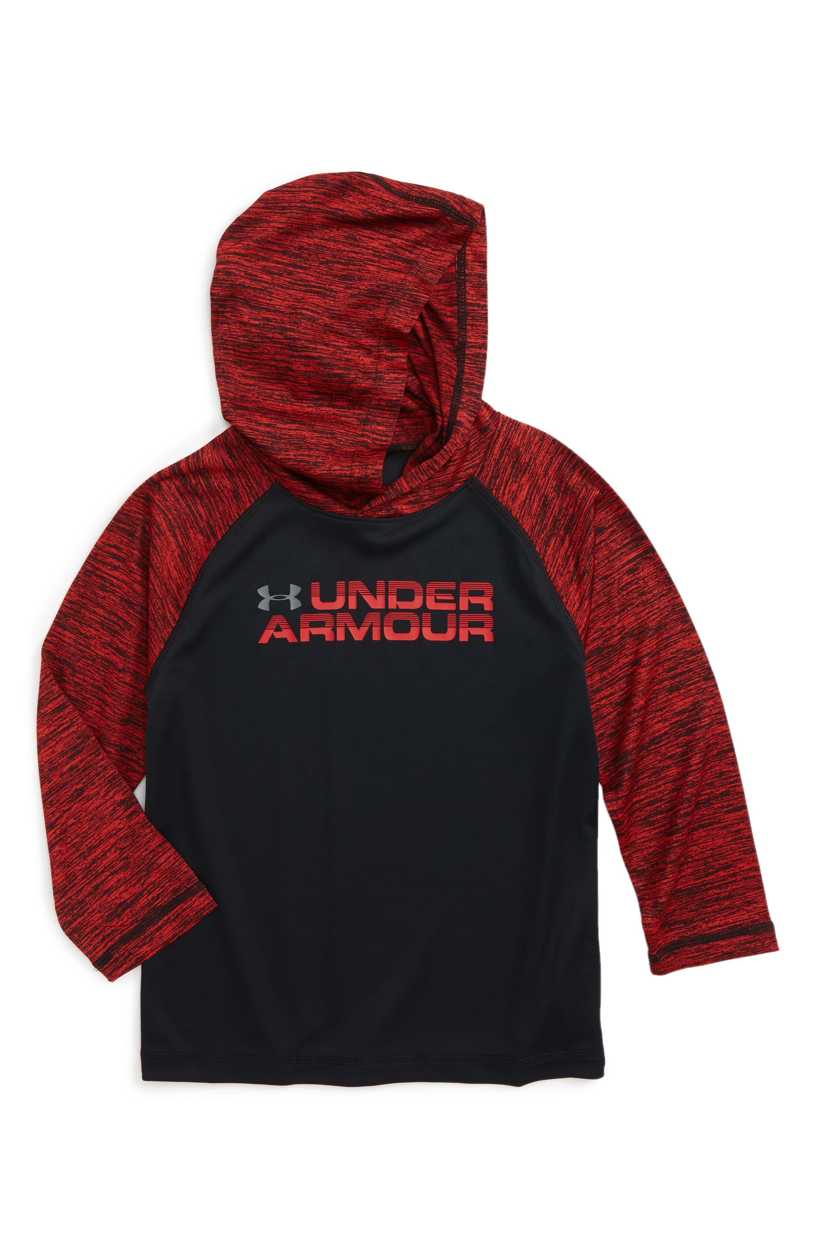 Wordmark Hooded T-Shirt,                             Main thumbnail 1, color,                             001