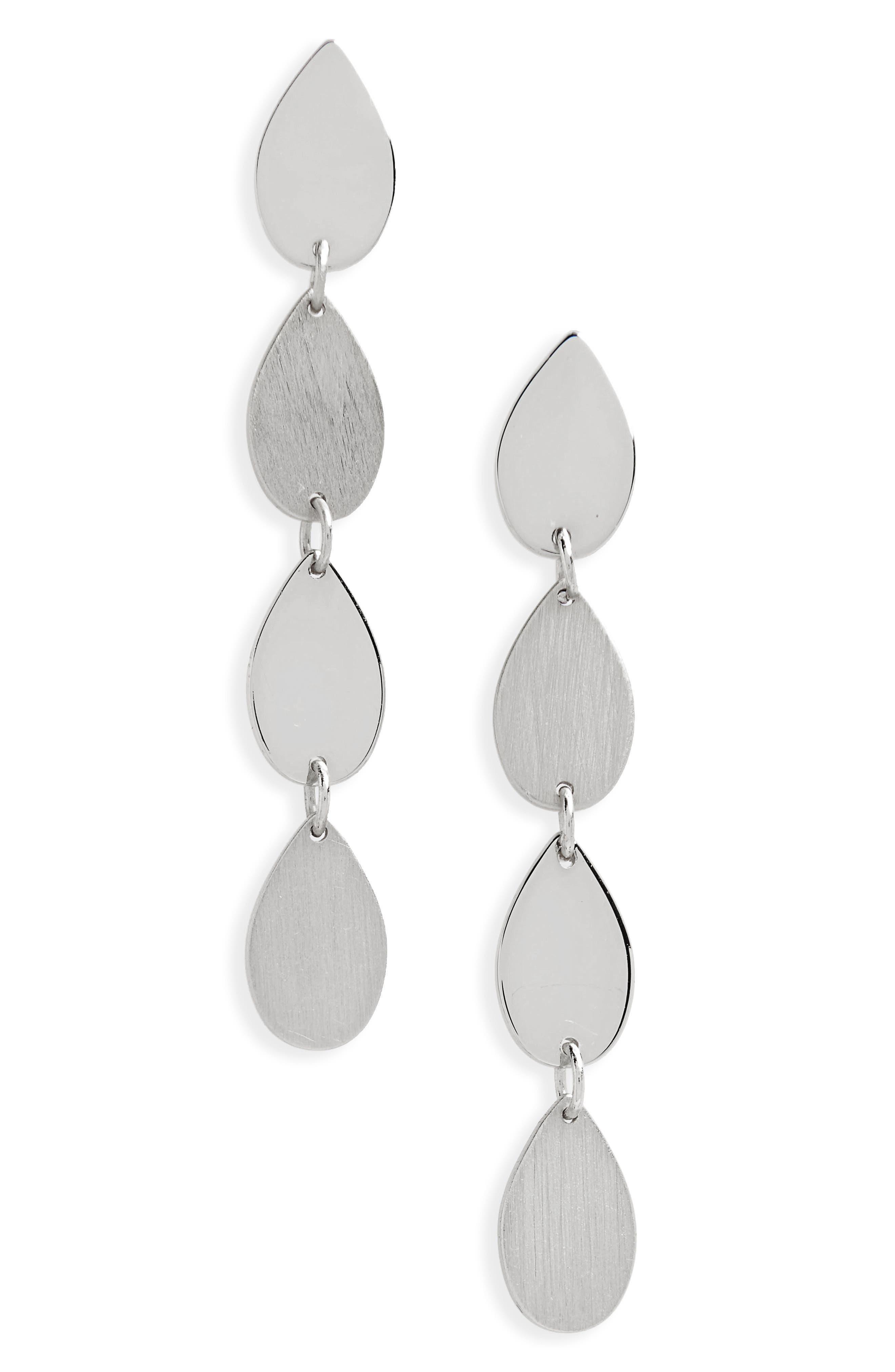Teardrop Linear Drop Earings,                         Main,                         color,