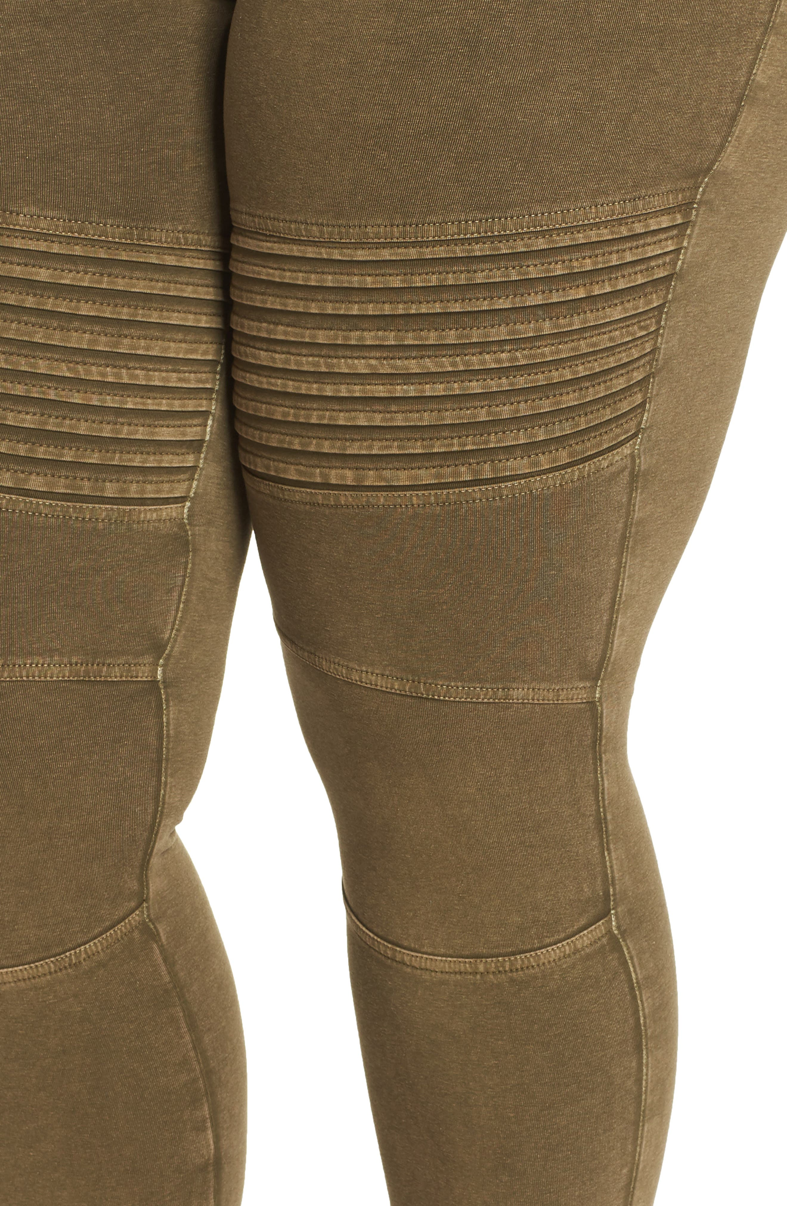 Washed Moto Leggings,                             Alternate thumbnail 11, color,                             OLIVE DARK