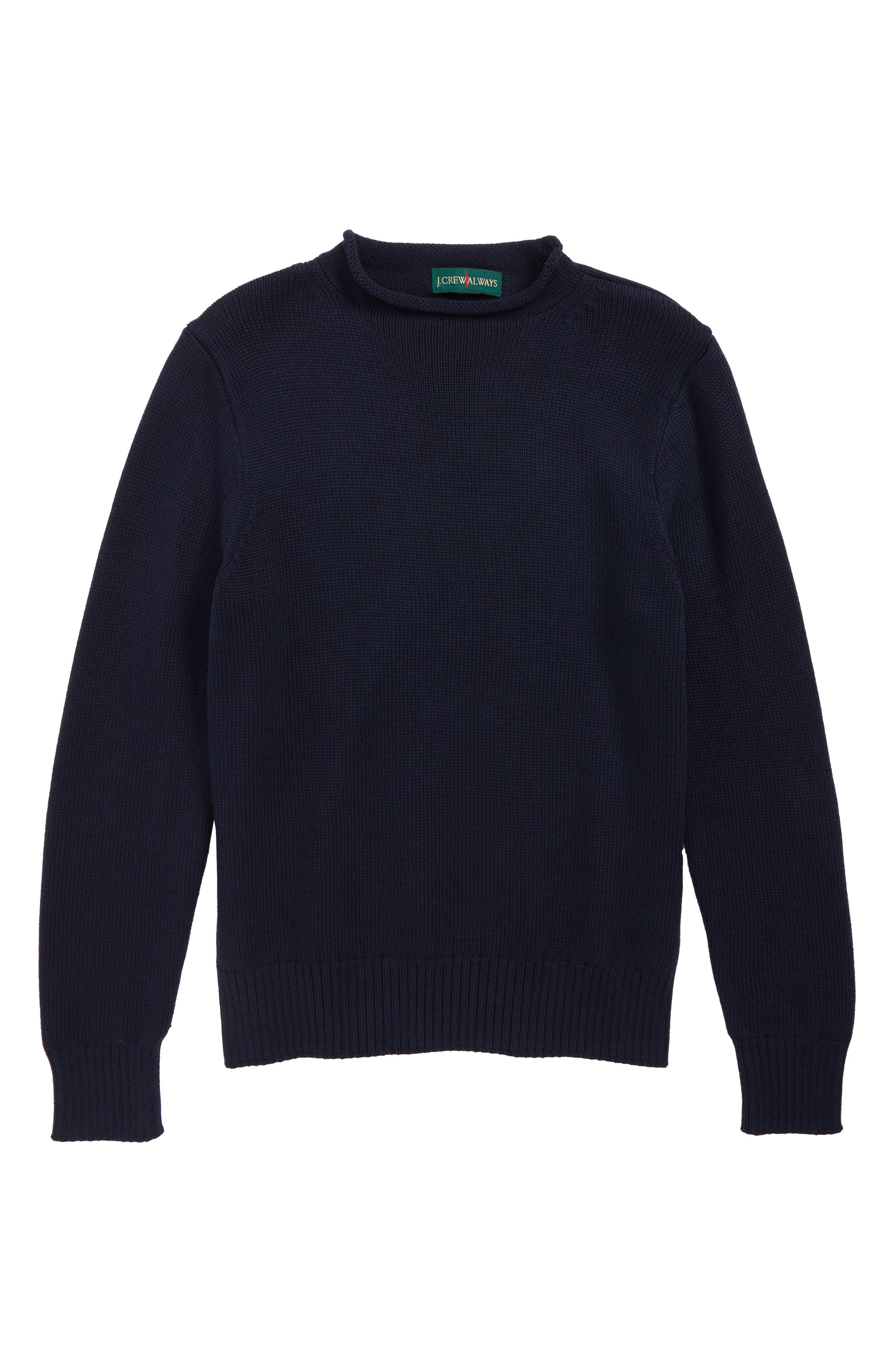 1998 Roll Neck Sweater,                         Main,                         color, NAVY